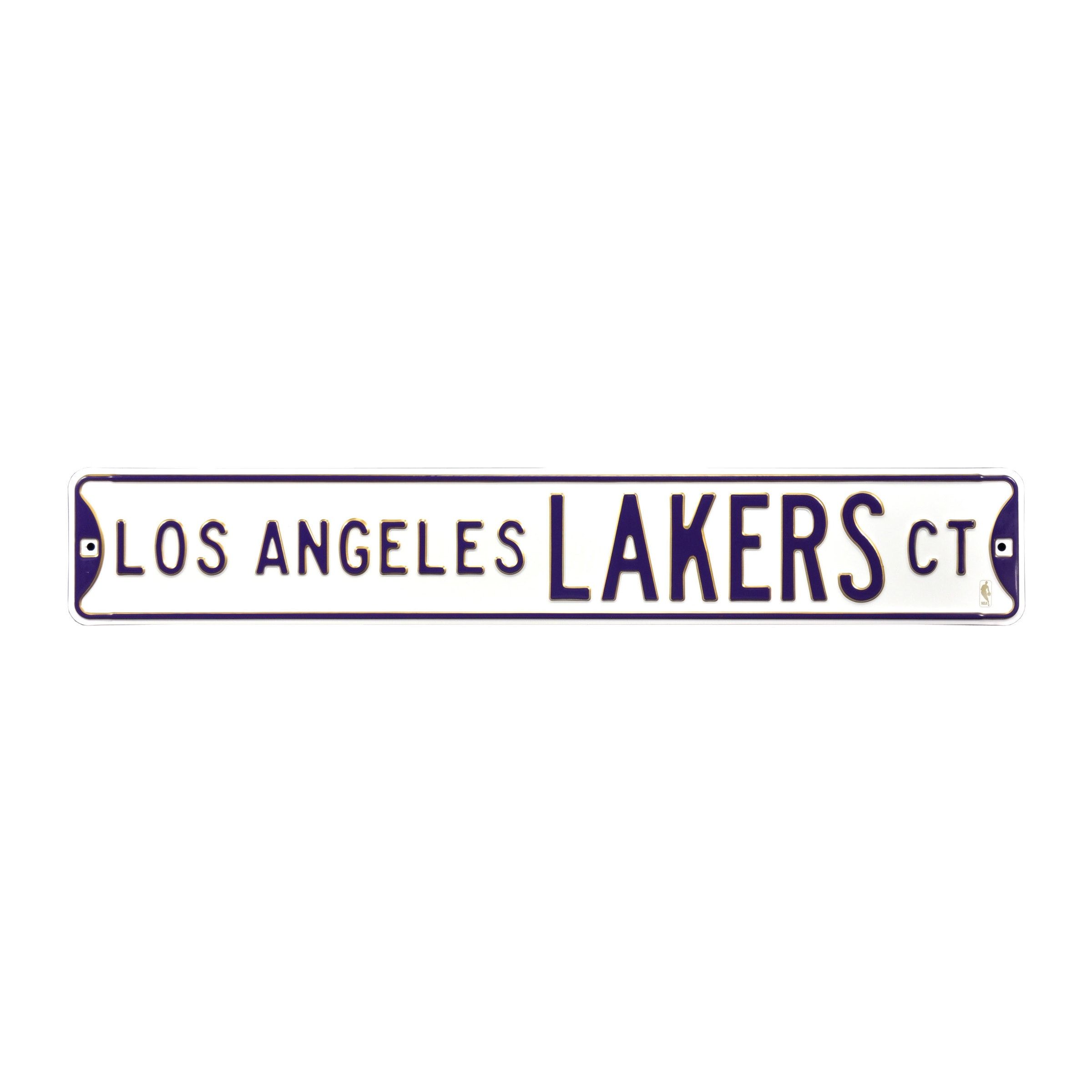 "Los Angeles Lakers 6"" x 36"" Steel Street Sign - White"