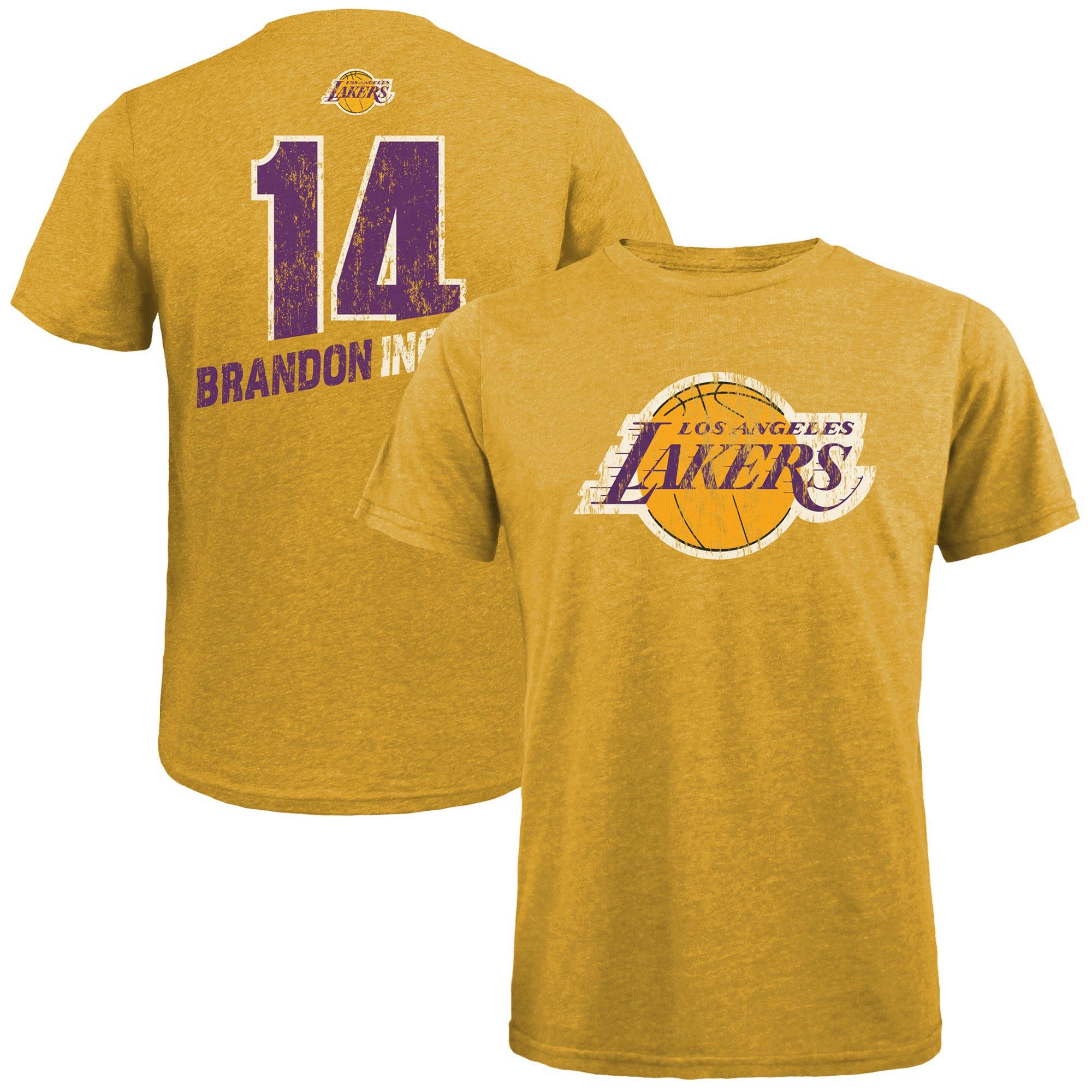 Brandon Ingram Los Angeles Lakers Majestic Threads Name & Number Tri-Blend T-Shirt - Gold