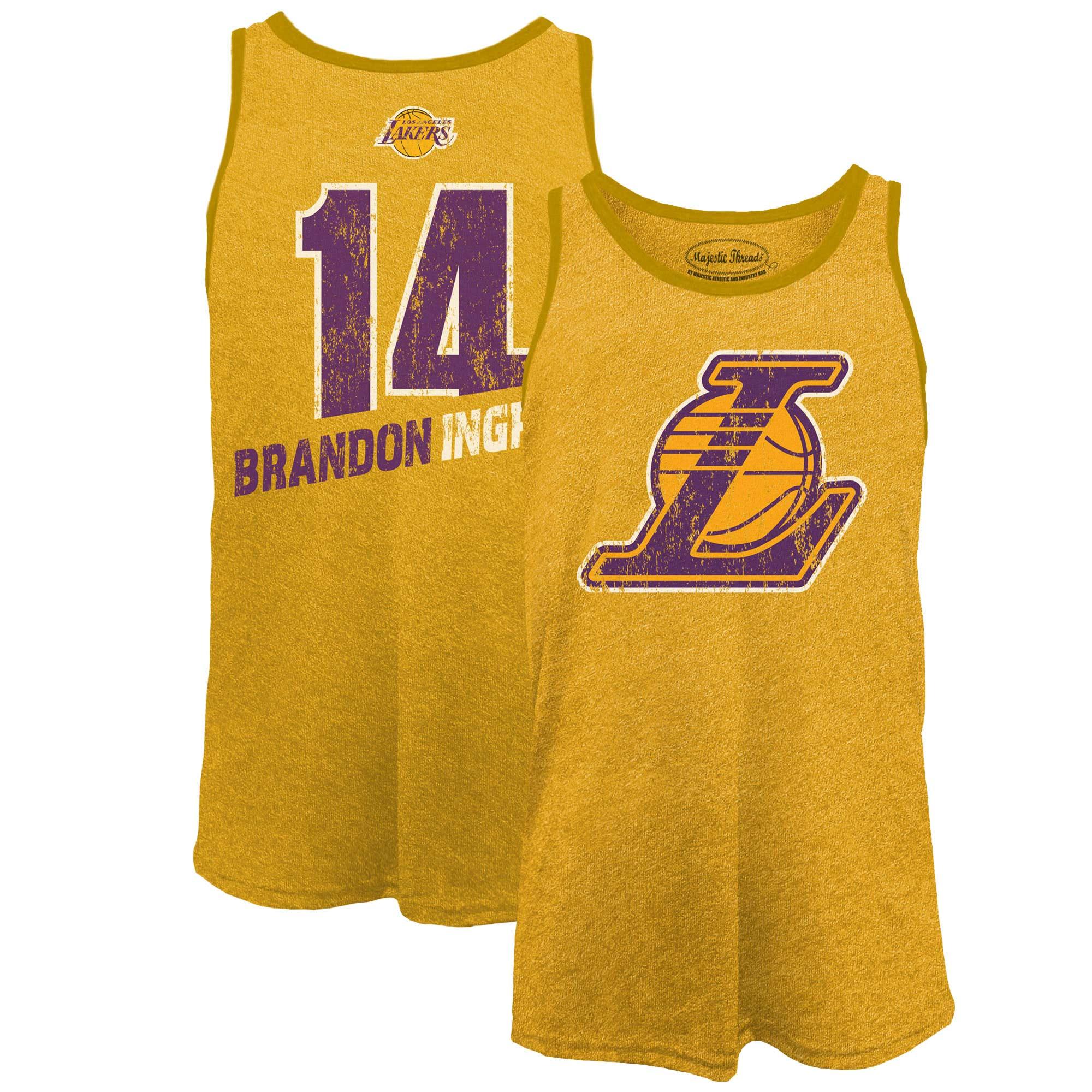 Brandon Ingram Los Angeles Lakers Majestic Threads Name & Number Tri-Blend Tank Top - Gold