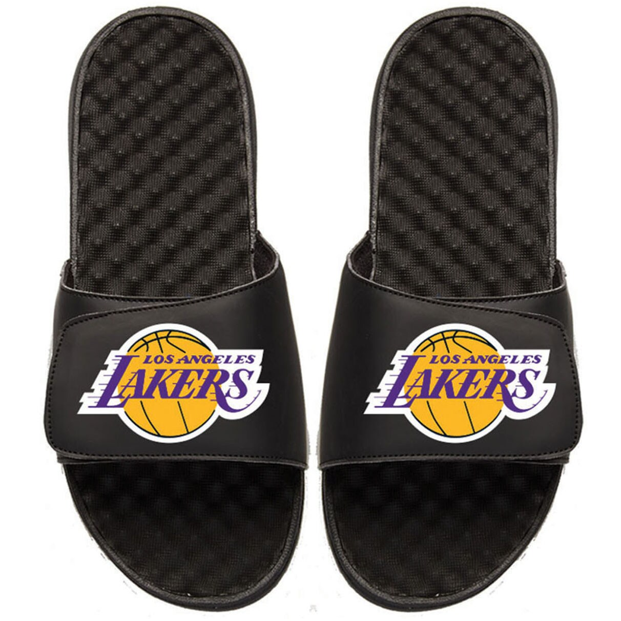 Los Angeles Lakers Youth Primary iSlide Sandals - Black