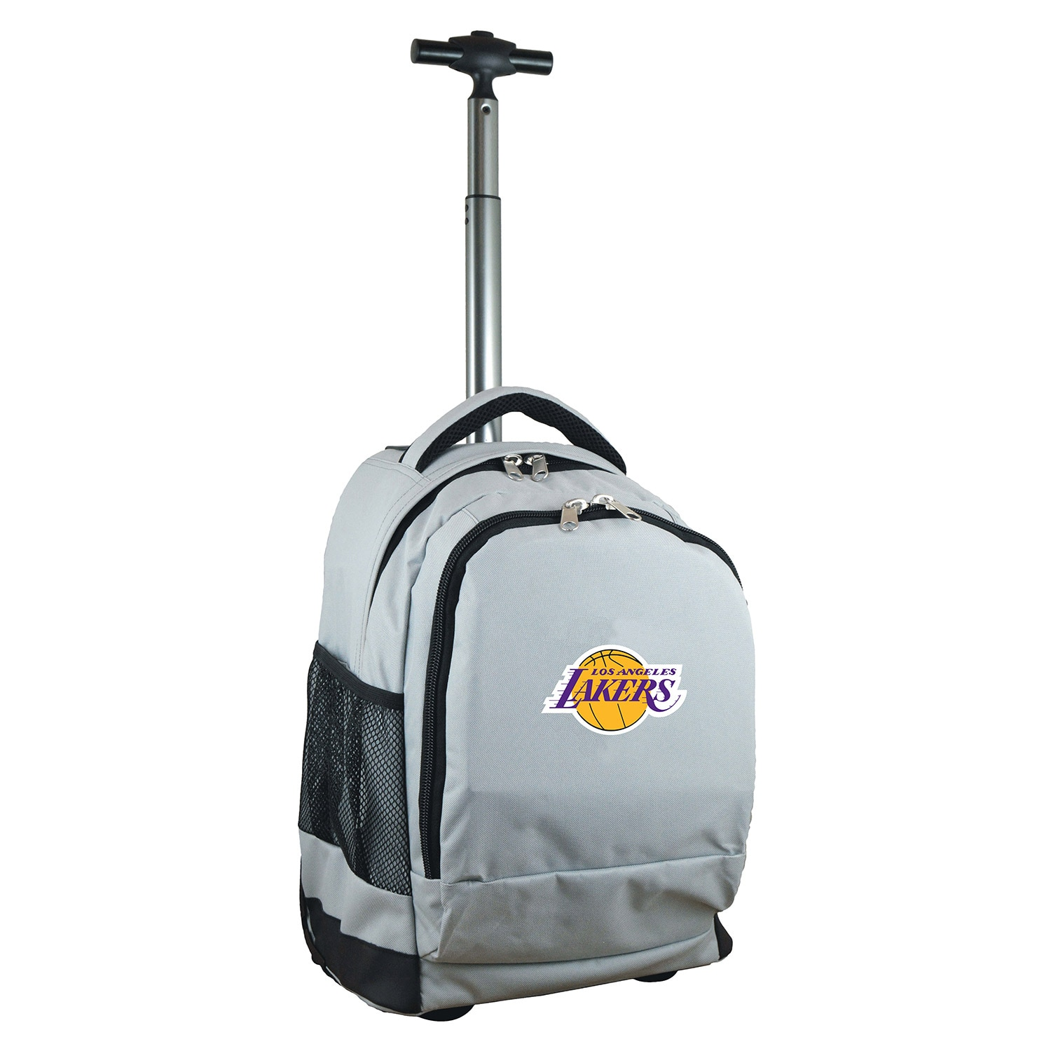 Los Angeles Lakers 19'' Premium Wheeled Backpack - Gray