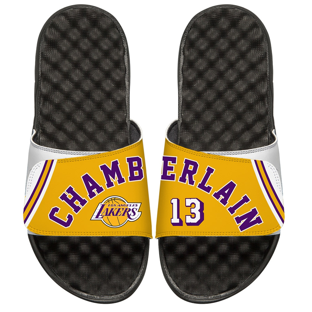 Wilt Chamberlain Los Angeles Lakers ISlide Youth Retro Jersey Slide Sandals