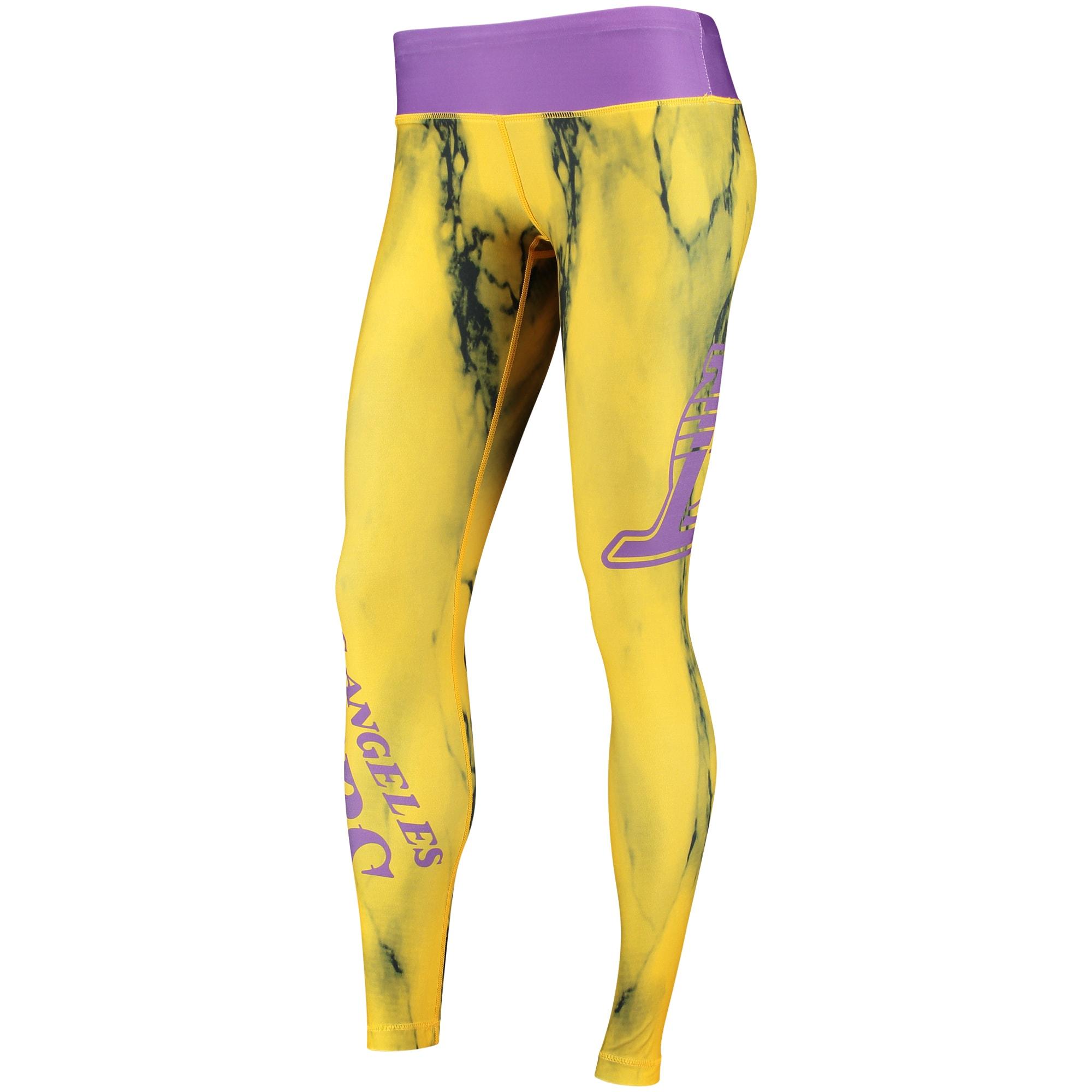 Los Angeles Lakers Women's Marble Wordmark Leggings - Purple