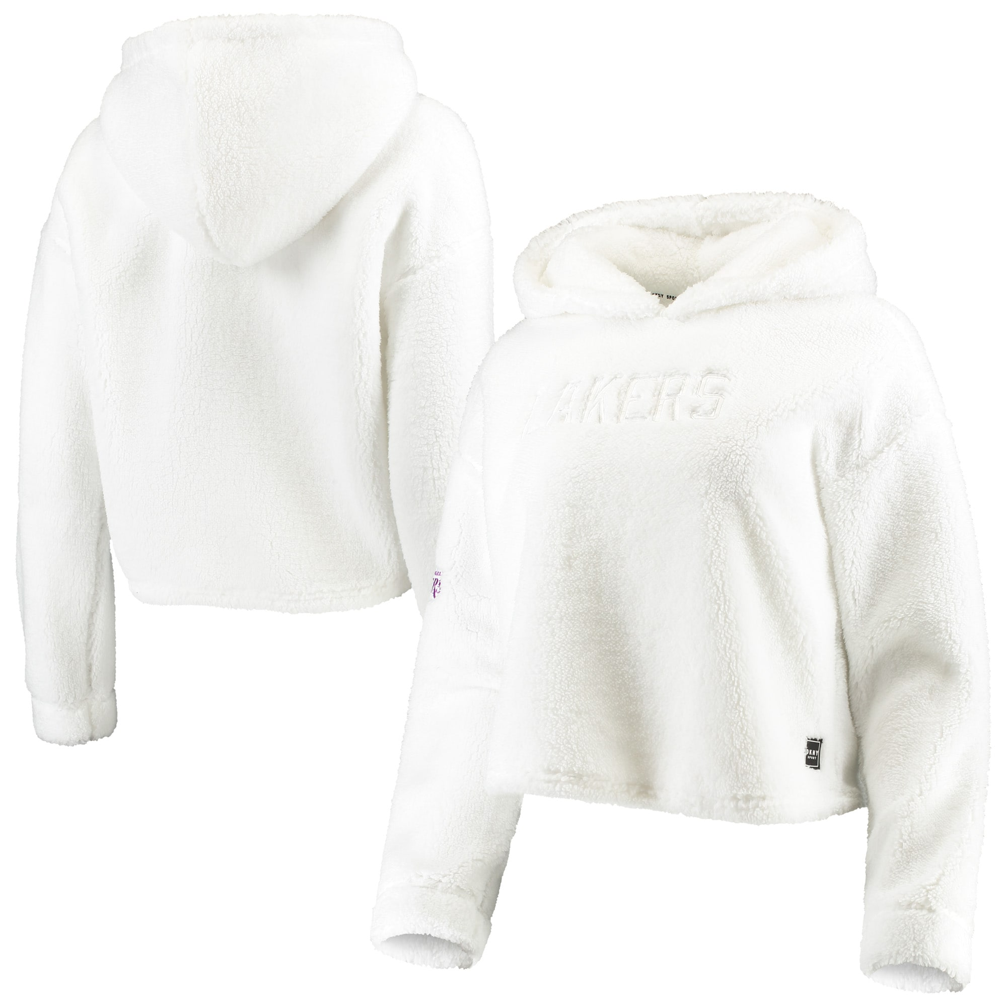 Los Angeles Lakers DKNY Sport Women's Cozy Pullover Hoodie - White