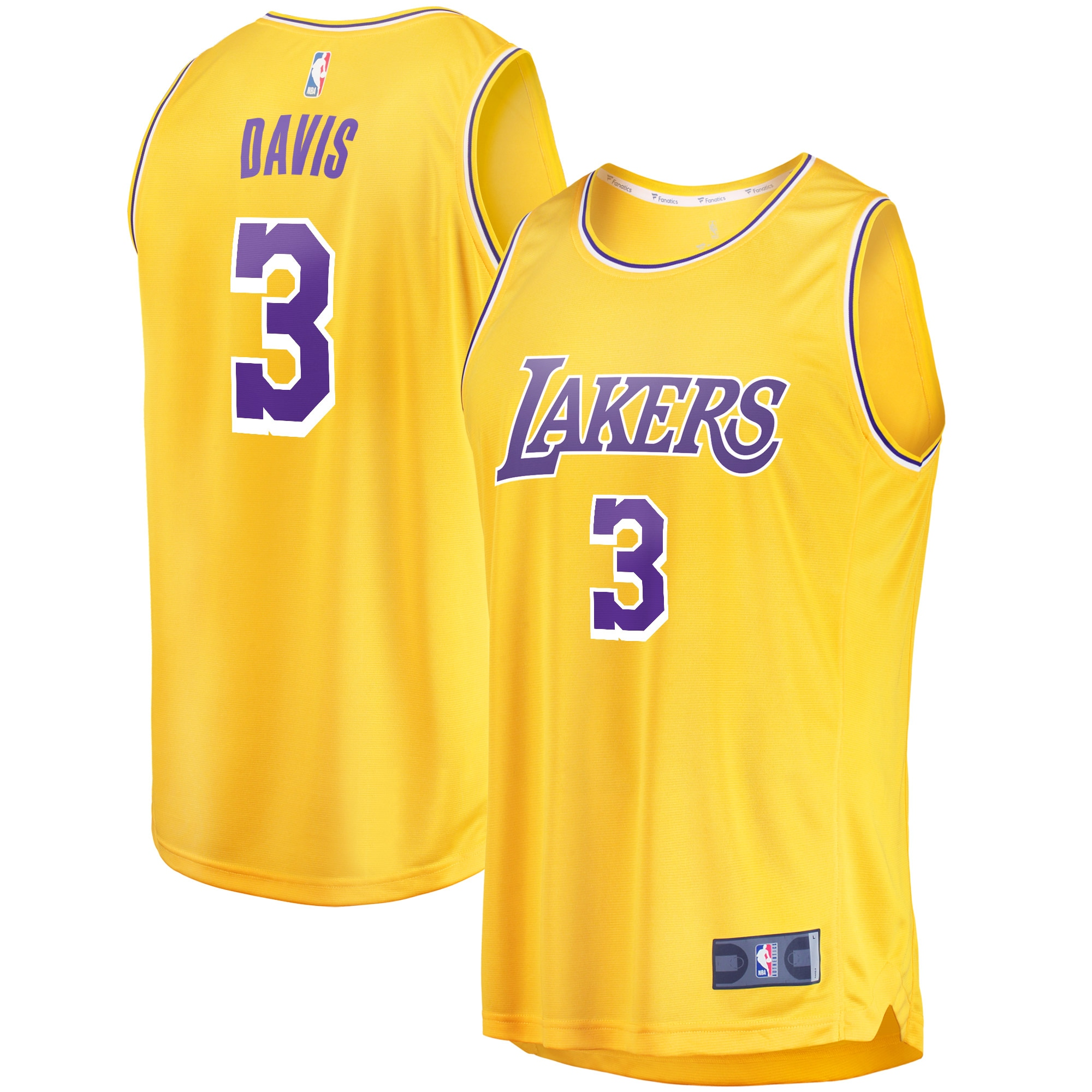 Anthony Davis Los Angeles Lakers Fanatics Branded 2019/20 Fast Break Replica Jersey Gold - Icon Edition