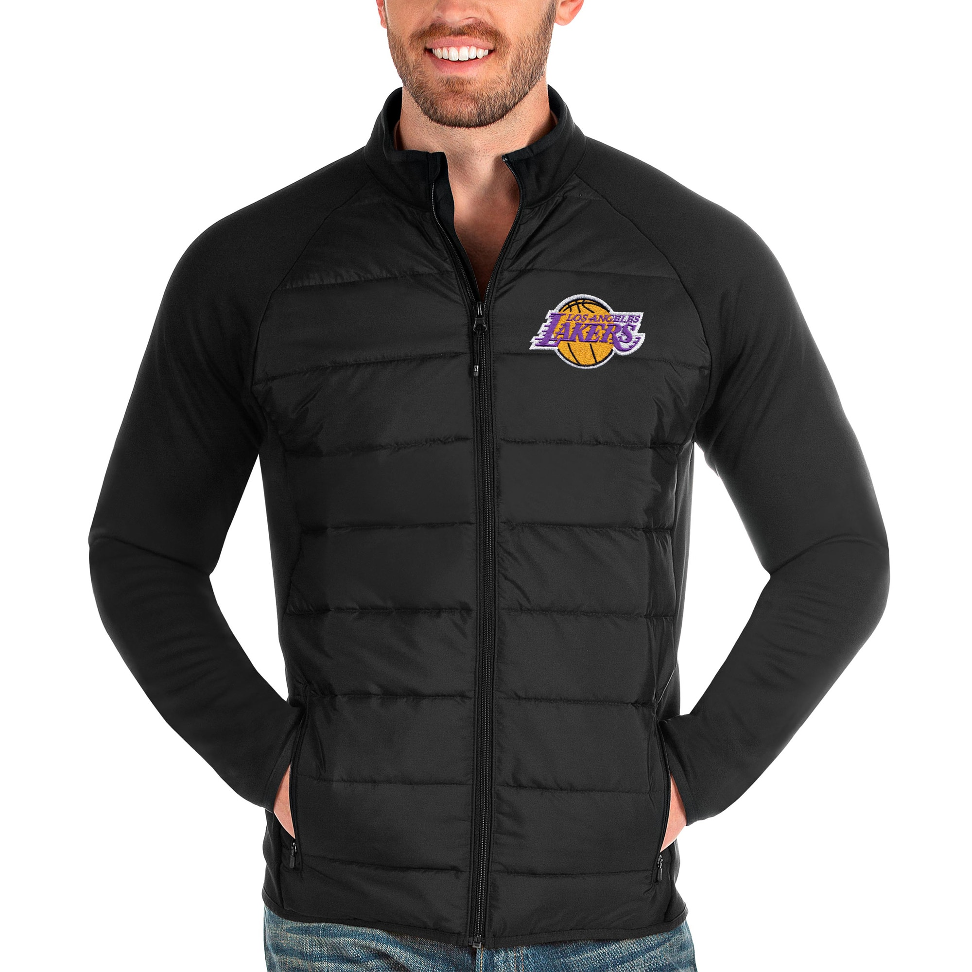 Los Angeles Lakers Antigua Altitude Full-Zip Jacket - Black