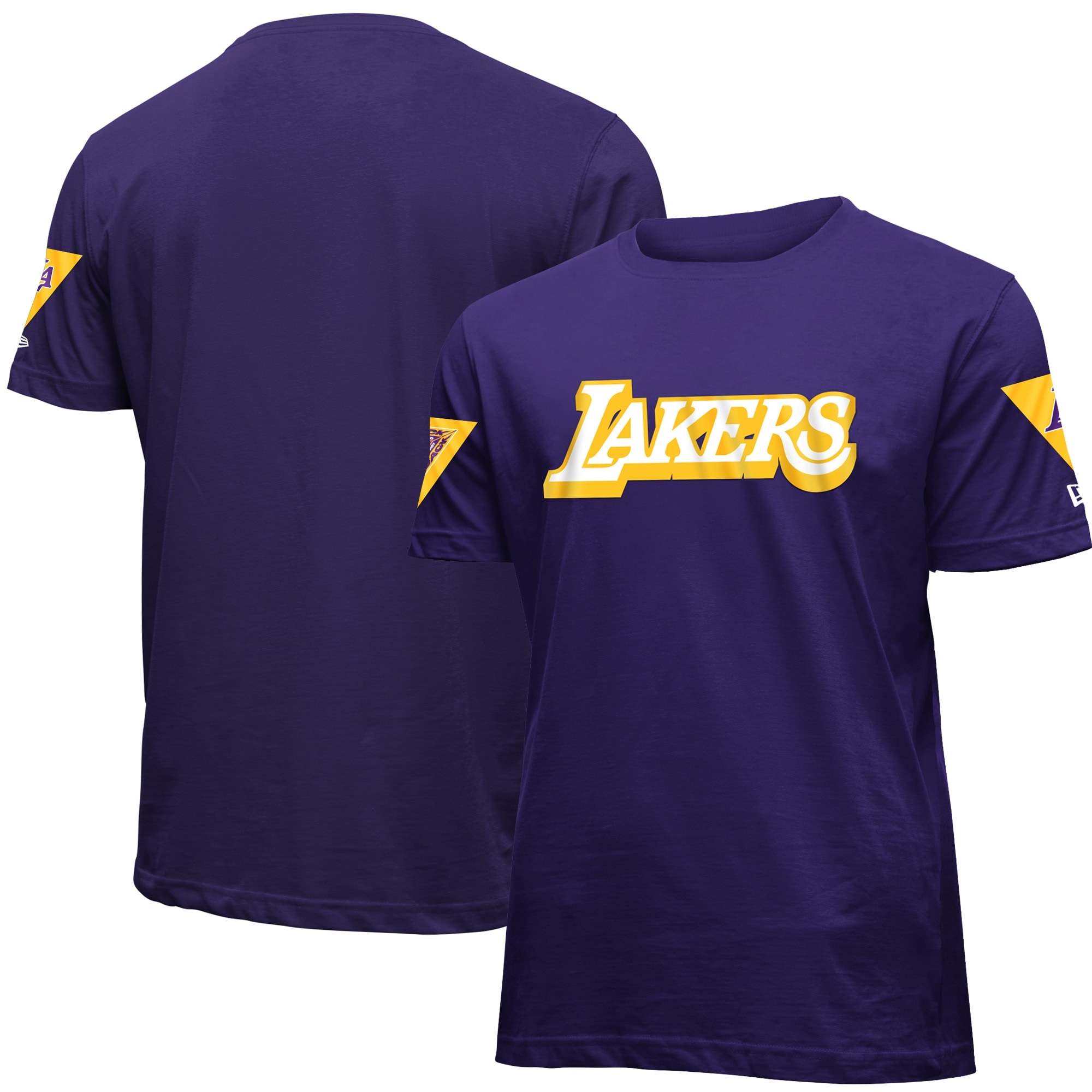 Los Angeles Lakers New Era 2019/20 City Edition Brushed Jersey T-Shirt - Purple