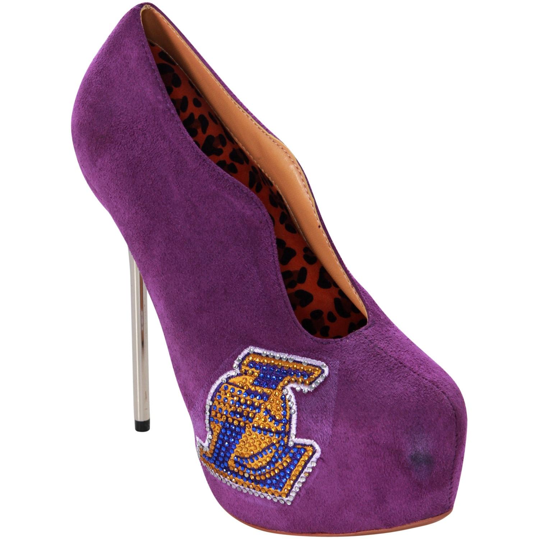 Los Angeles Lakers Cuce Shoes Women's Crusader High Heel Bootie - Purple