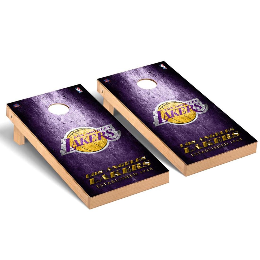 Los Angeles Lakers 2' x 4' Metal Design Cornhole Game Set
