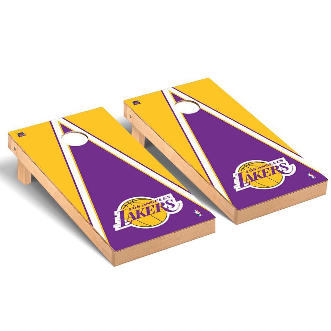 Los Angeles Lakers 2' x 4' Triangle Museum Cornhole Board Tailgate Toss Set