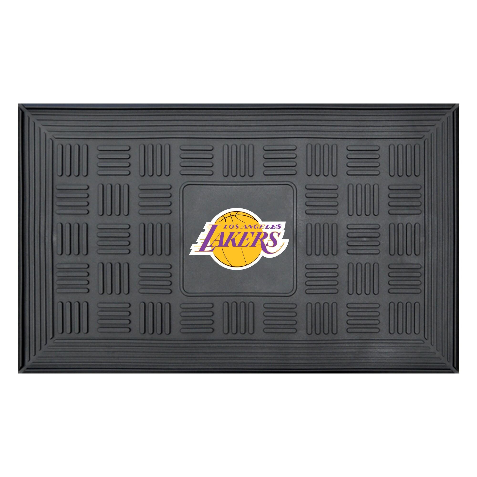 "Los Angeles Lakers 19"" x 30"" Vinyl Medallion Door Mat - Black"