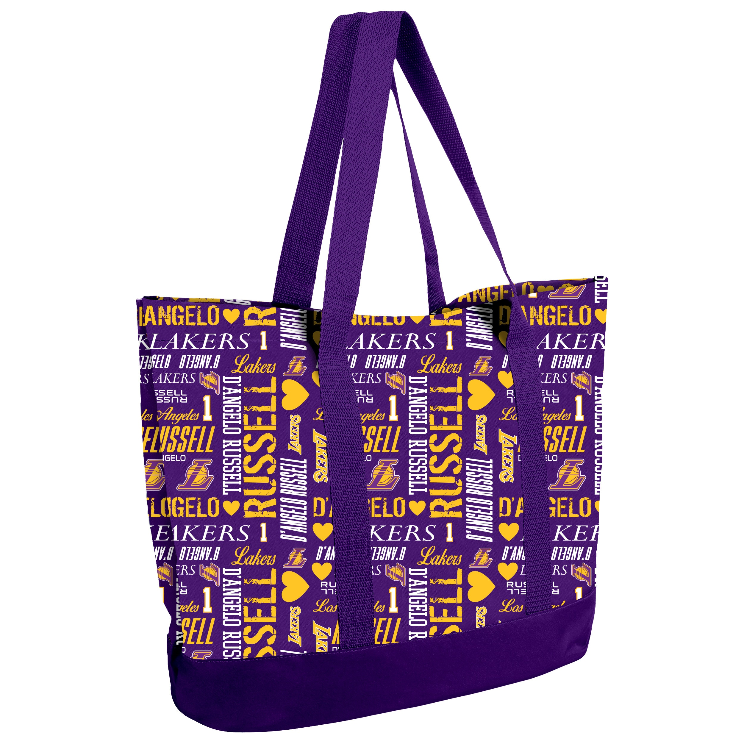 D'Angelo Russell Los Angeles Lakers Women's Player Collage Tote Bag