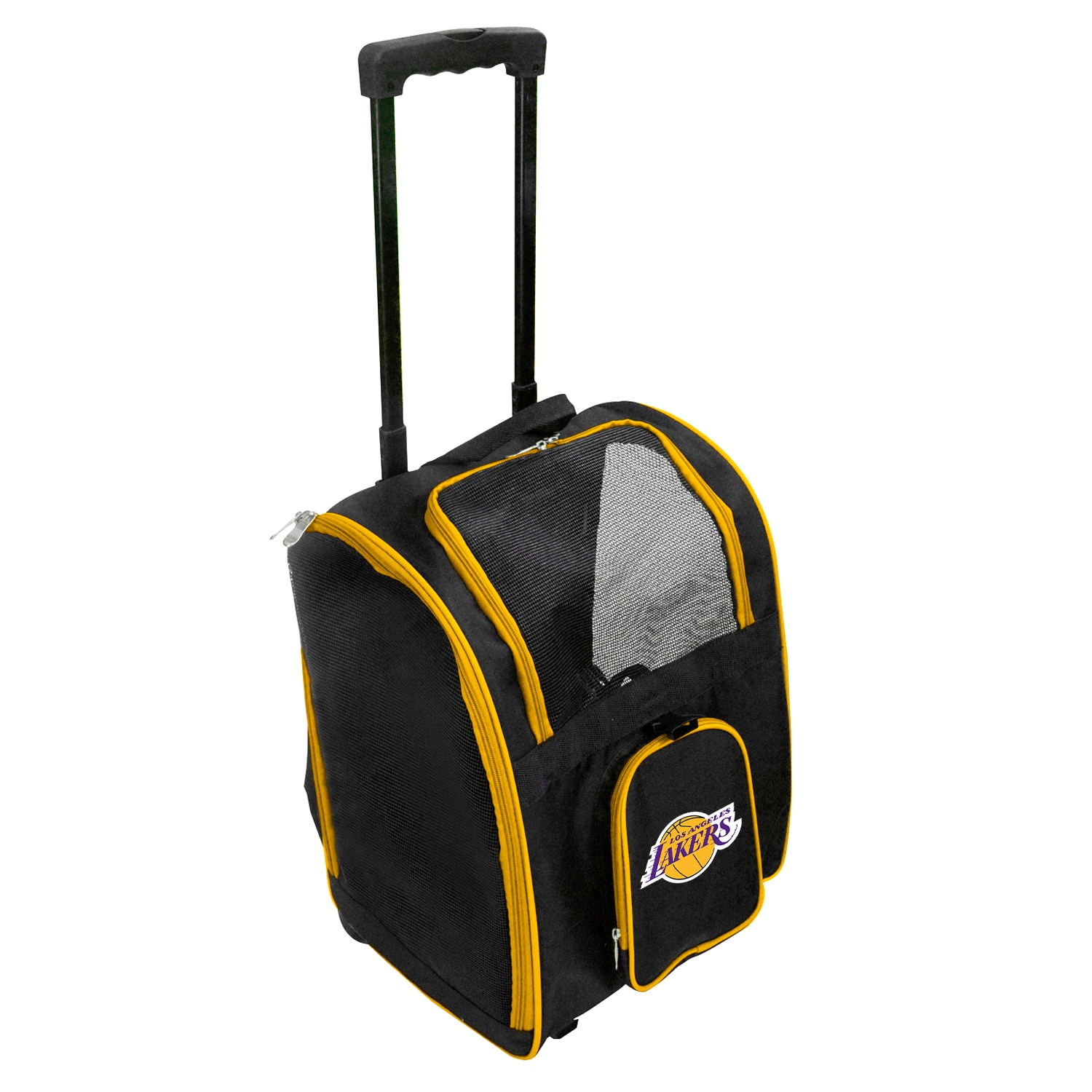 Los Angeles Lakers 2-Wheeled Roller Pet Carrier - Black
