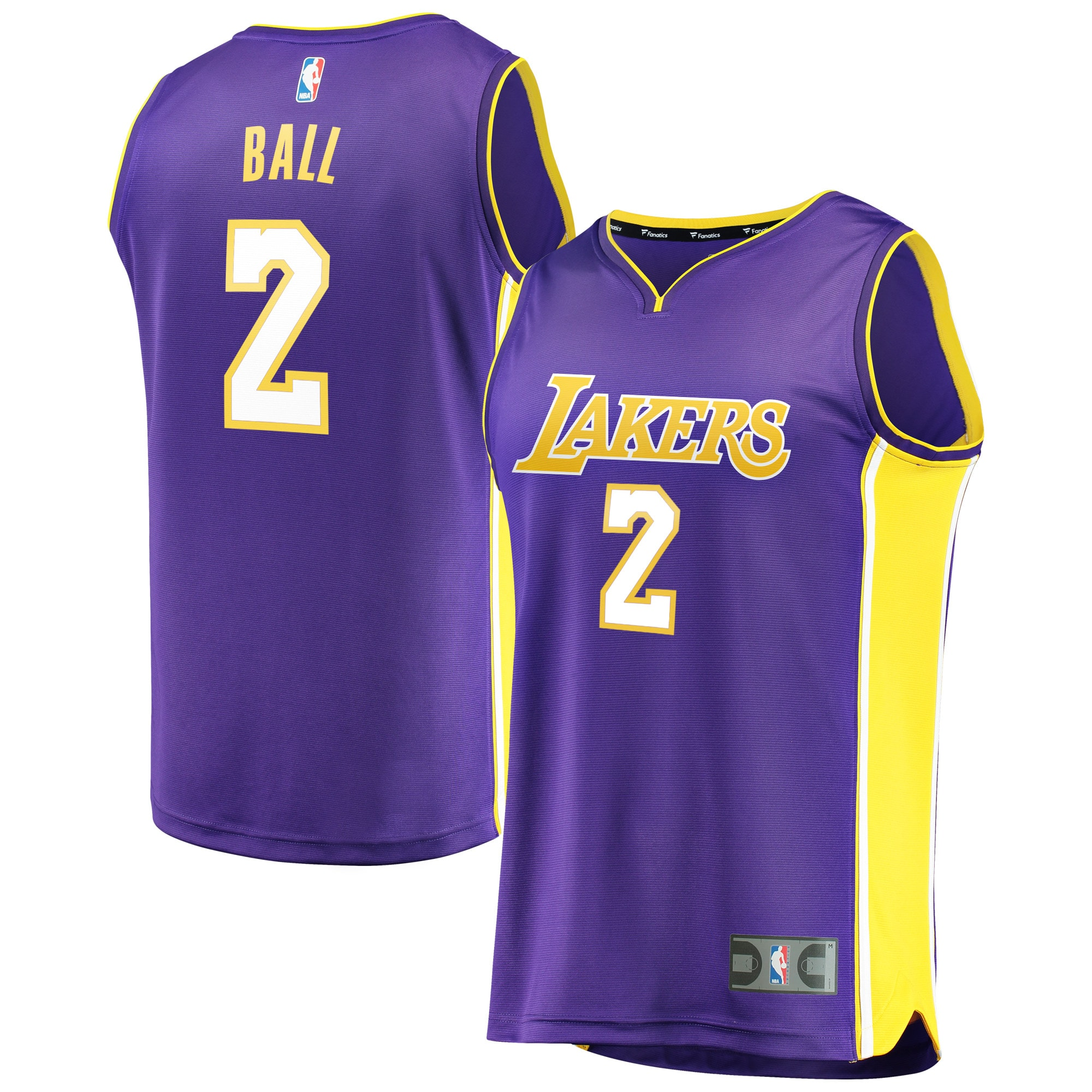 Lonzo Ball Los Angeles Lakers Fanatics Branded Fast Break Replica Jersey Purple - Statement Edition