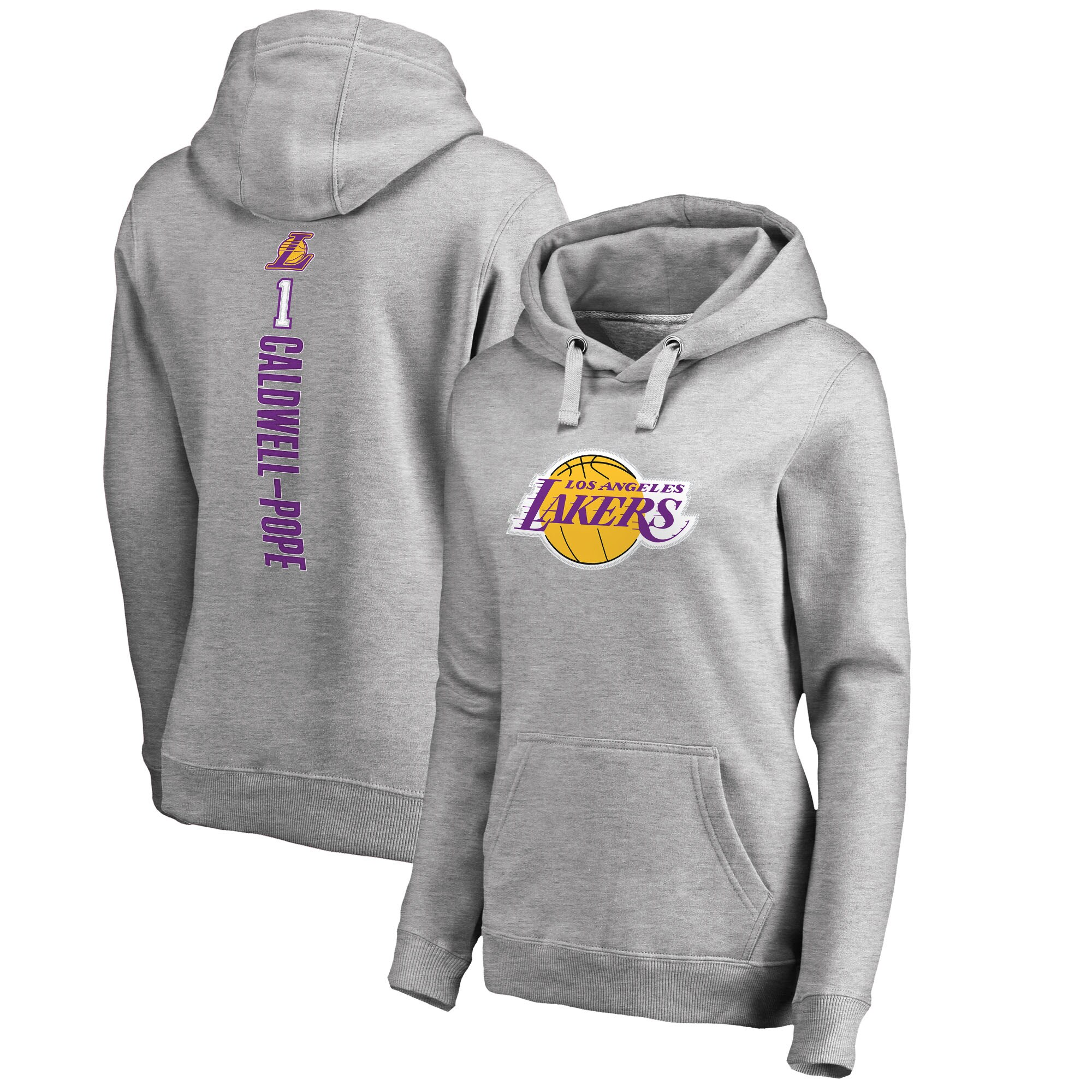 Kentavious Caldwell-Pope Los Angeles Lakers Fanatics Branded Women's Backer Name and Number Pullover Hoodie - Heathered Gray