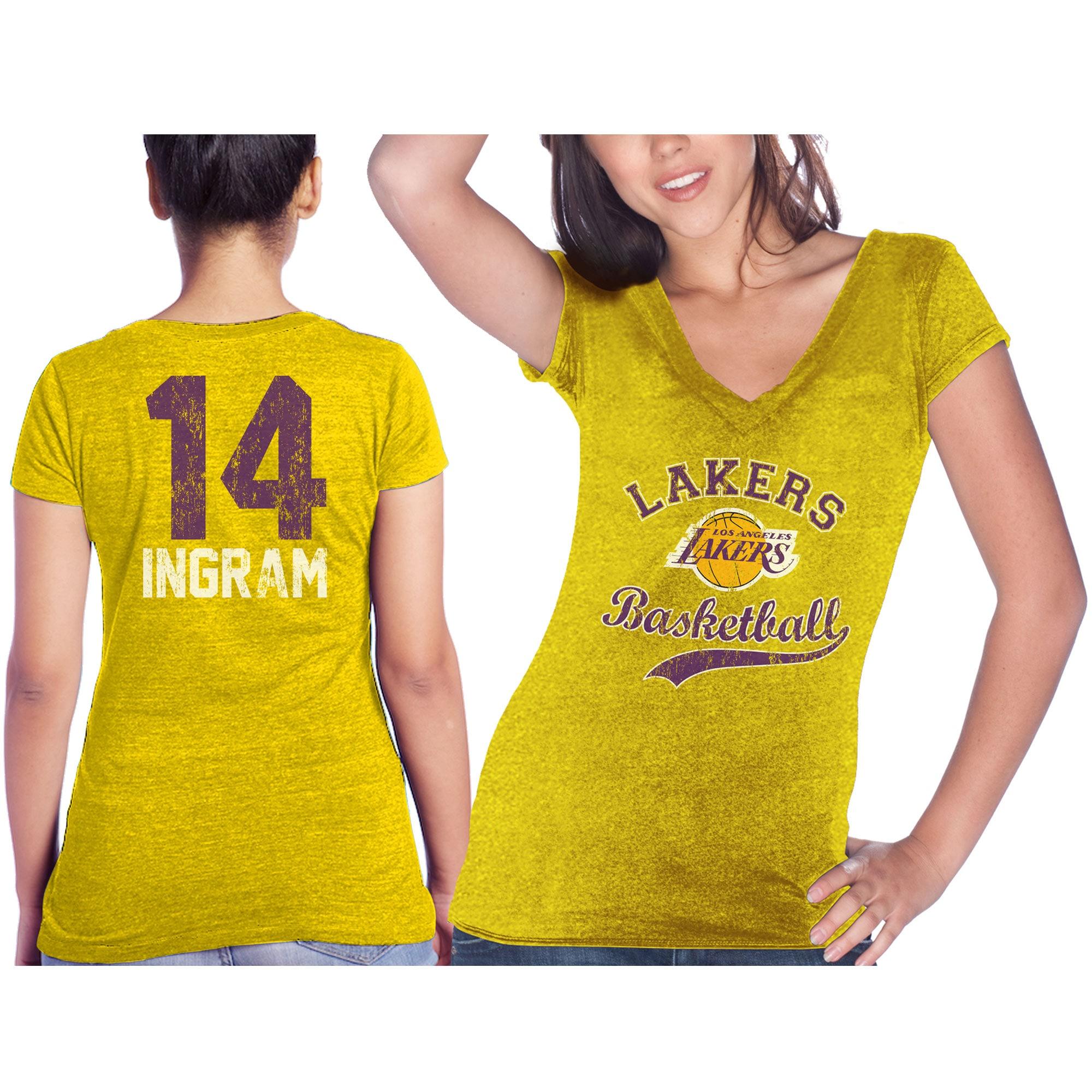 Brandon Ingram Los Angeles Lakers Majestic Threads Women's Name & Number Tri-Blend T-Shirt - Gold