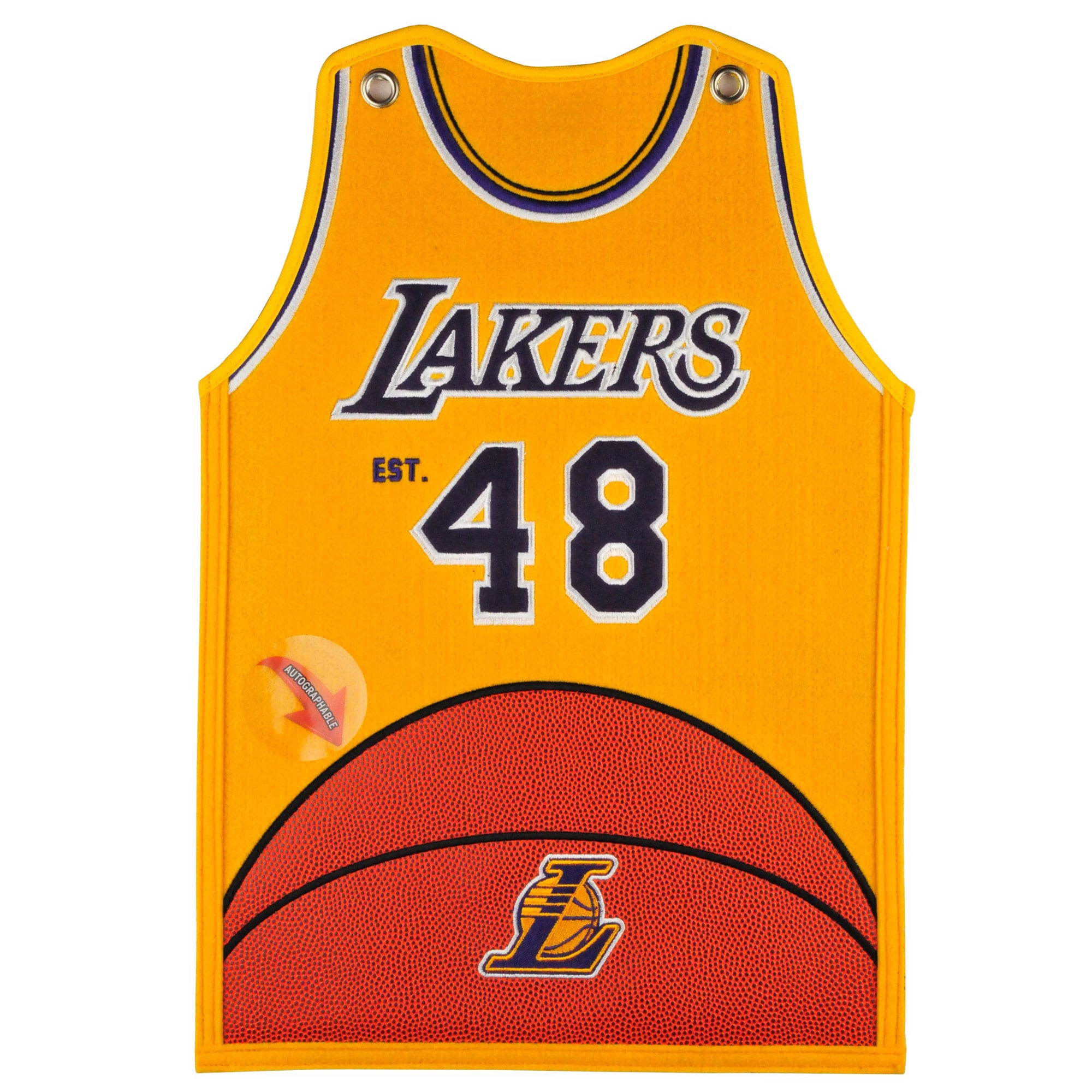 Los Angeles Lakers 20'' x 18'' Jersey Traditions Banner