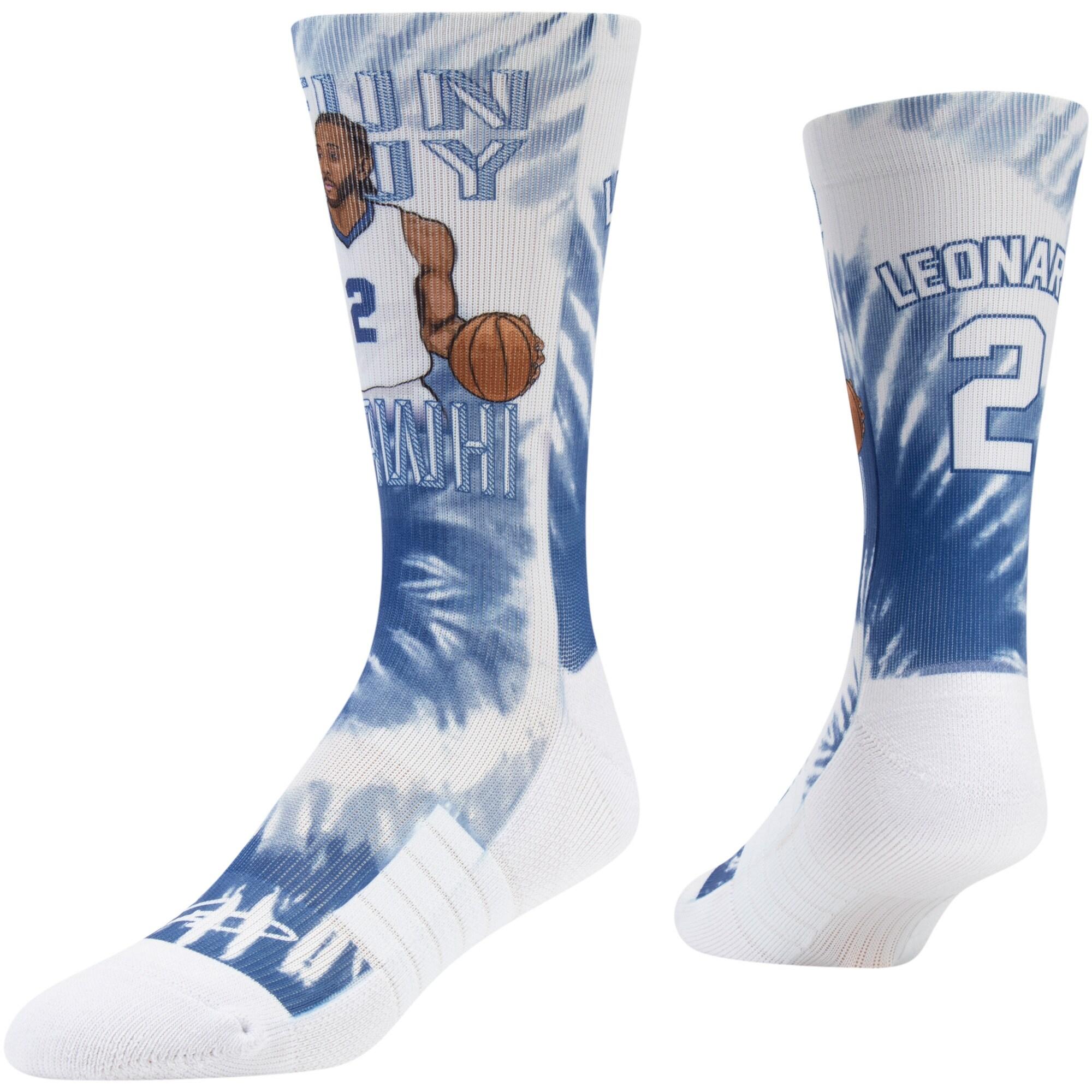 Kawhi Leonard LA Clippers Strideline Premium Comfy Crew Socks - Royal
