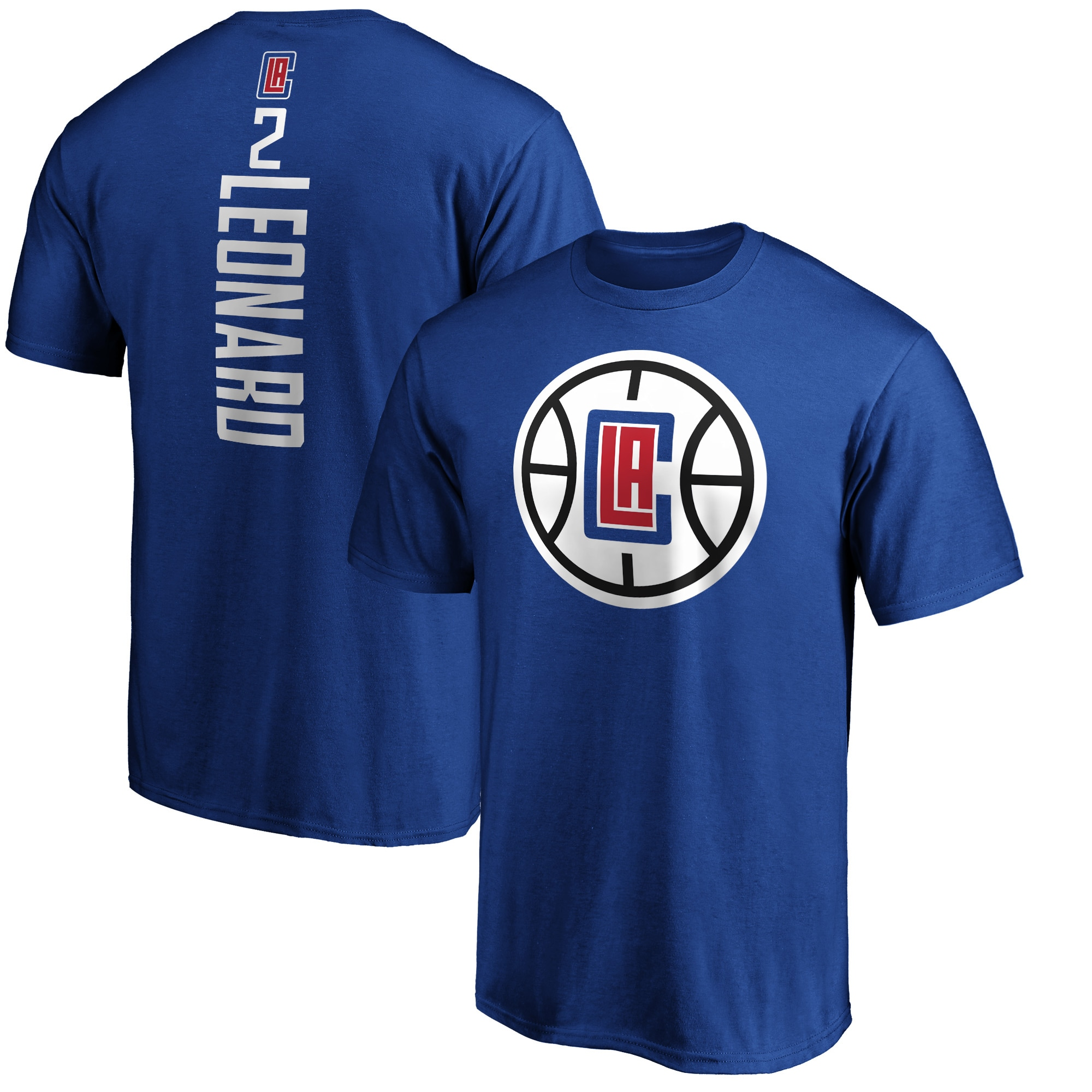 Kawhi Leonard LA Clippers Fanatics Branded Big & Tall Playmaker Name & Number Team T-Shirt - Royal