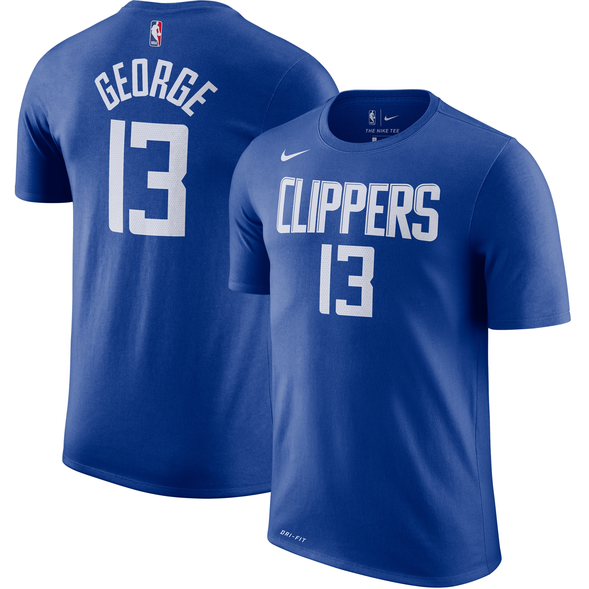 Paul George LA Clippers Nike 2019/2020 Name & Number Performance T-Shirt - Royal