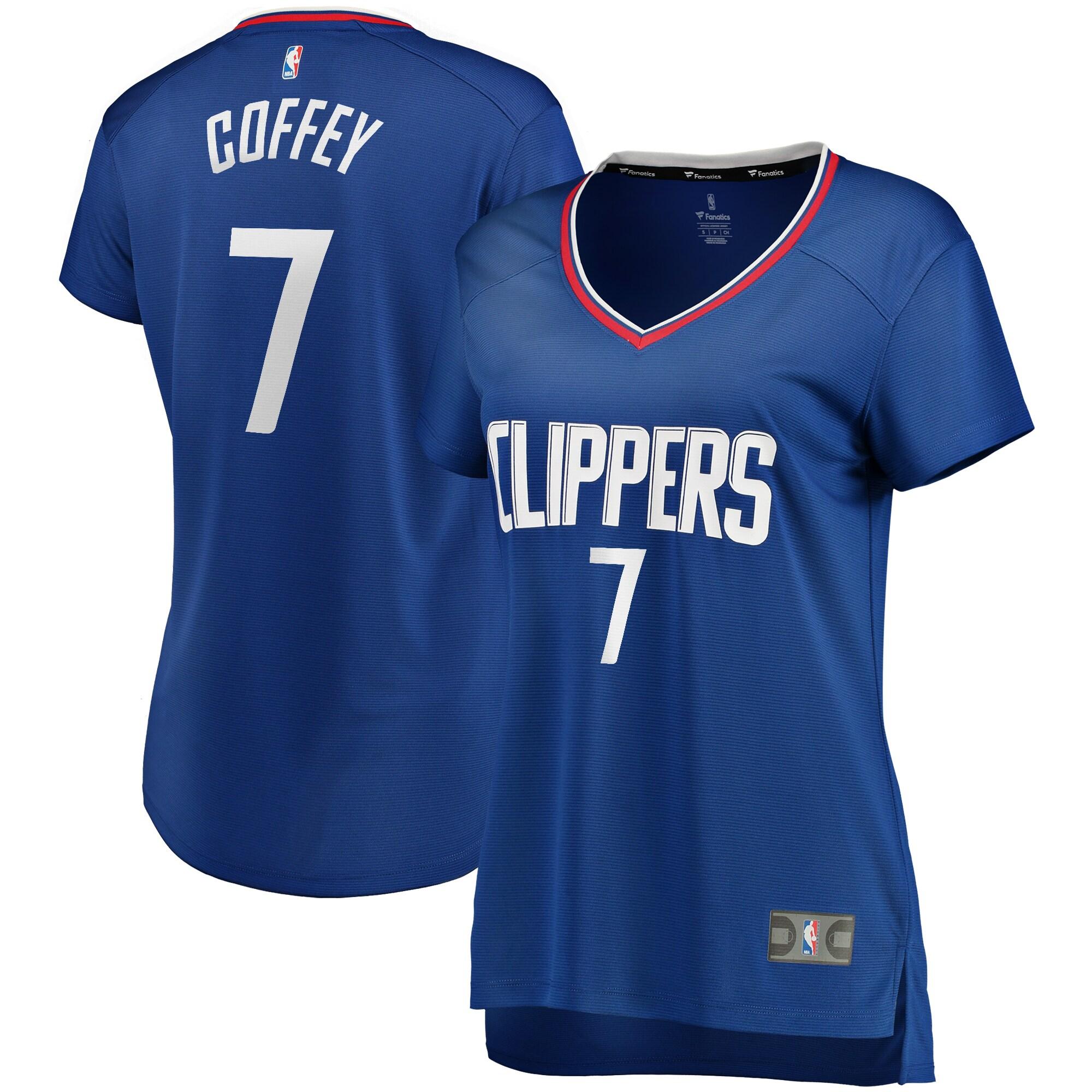 Amir Coffey LA Clippers Fanatics Branded Women's Fast Break Replica Player Jersey - Icon Edition - Royal