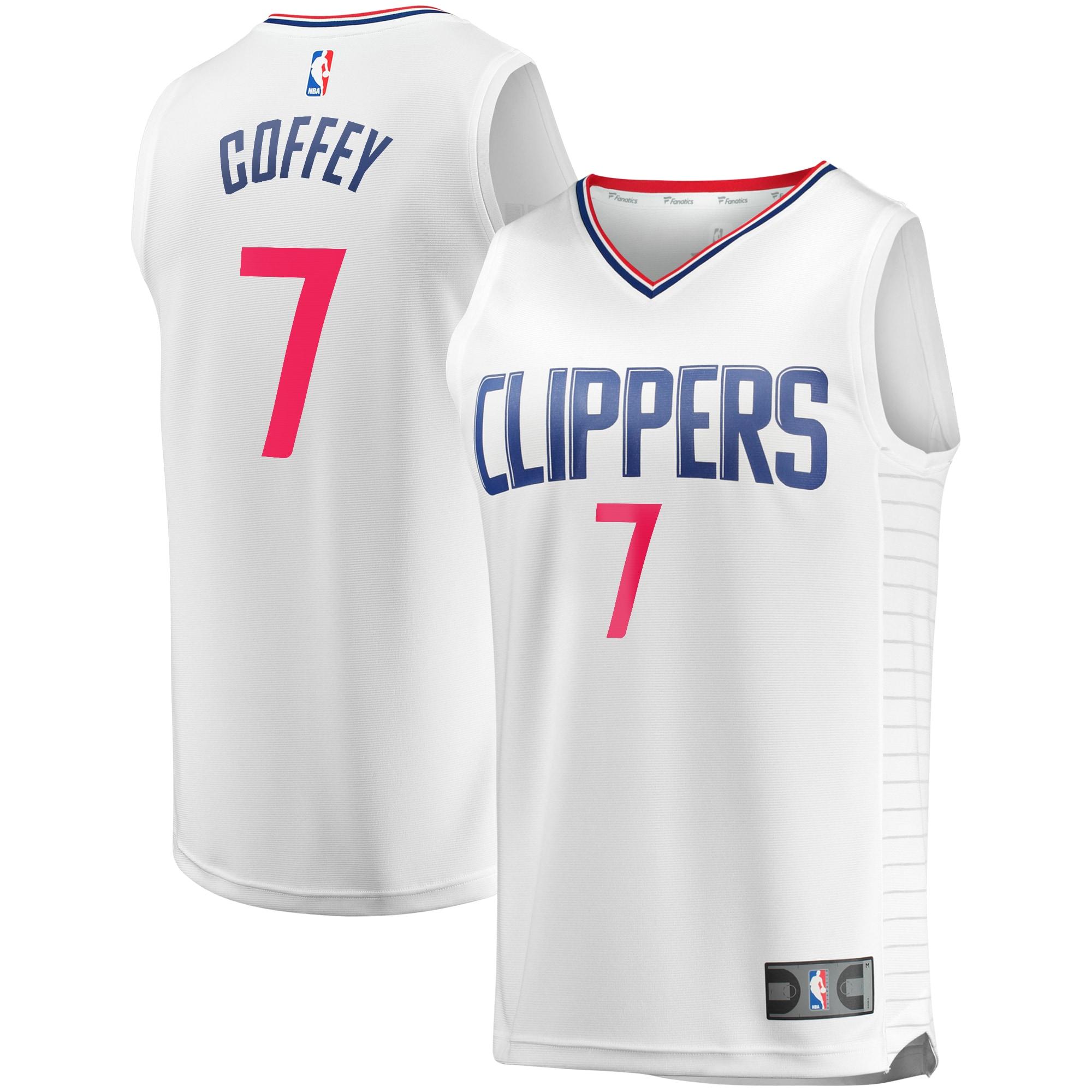 Amir Coffey LA Clippers Fanatics Branded Youth Fast Break Replica Player Jersey White - Association Edition