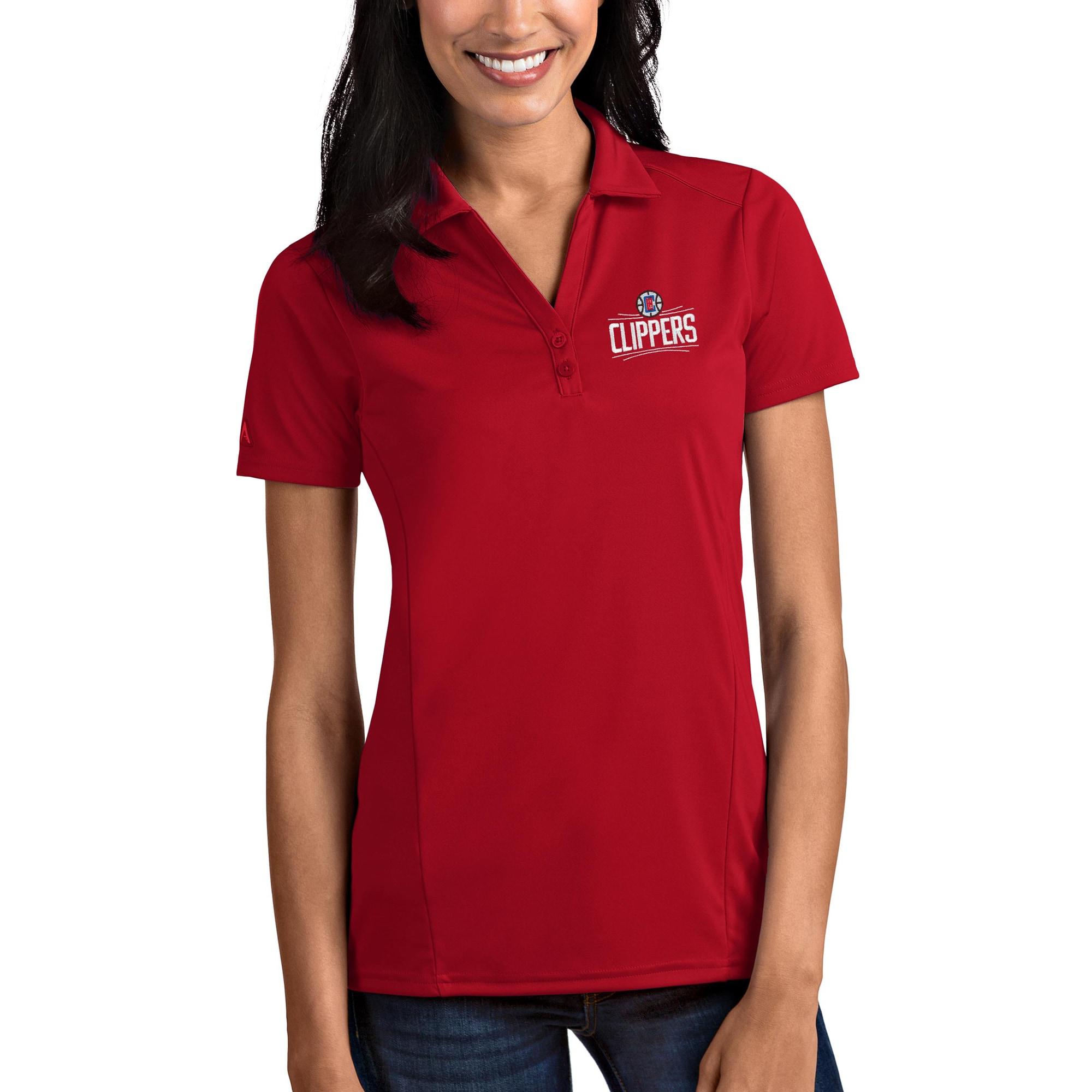 LA Clippers Antigua Women's Tribute Polo - Red
