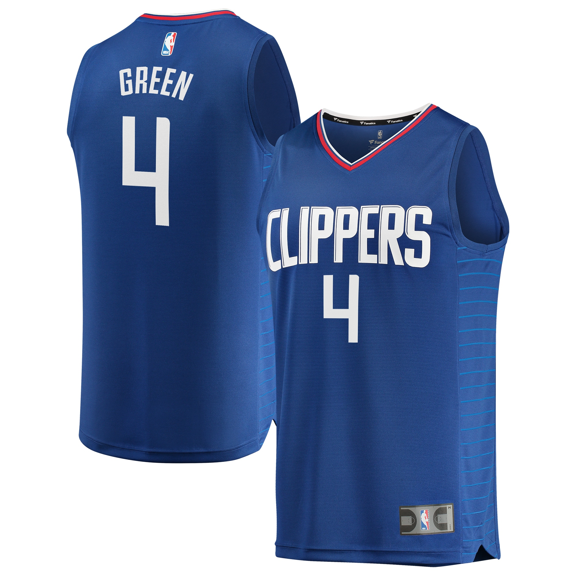 JaMychal Green LA Clippers Fanatics Branded Youth Fast Break Replica Jersey Blue - Icon Edition