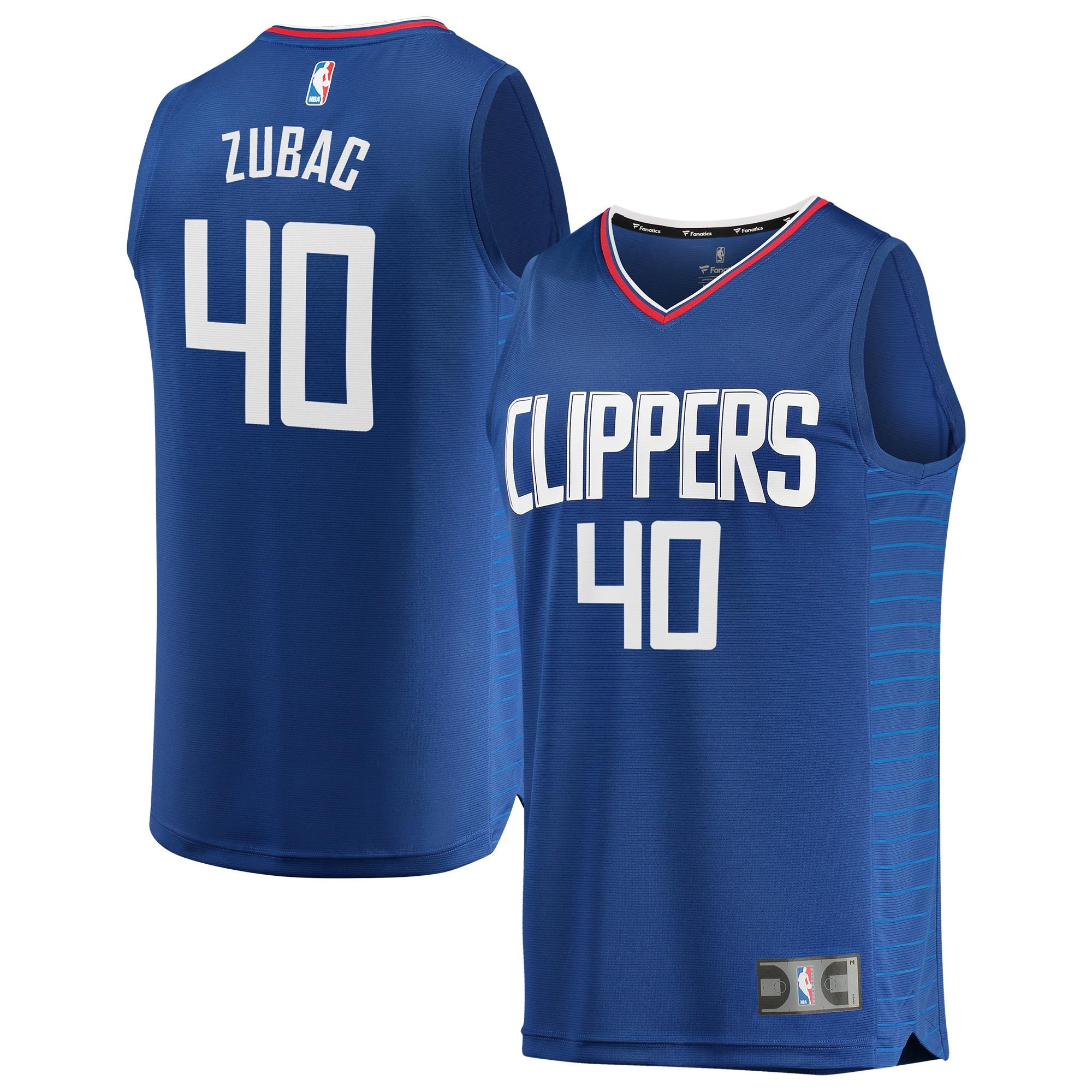 Ivica Zubac LA Clippers Fanatics Branded Youth Fast Break Replica Jersey Blue - Icon Edition