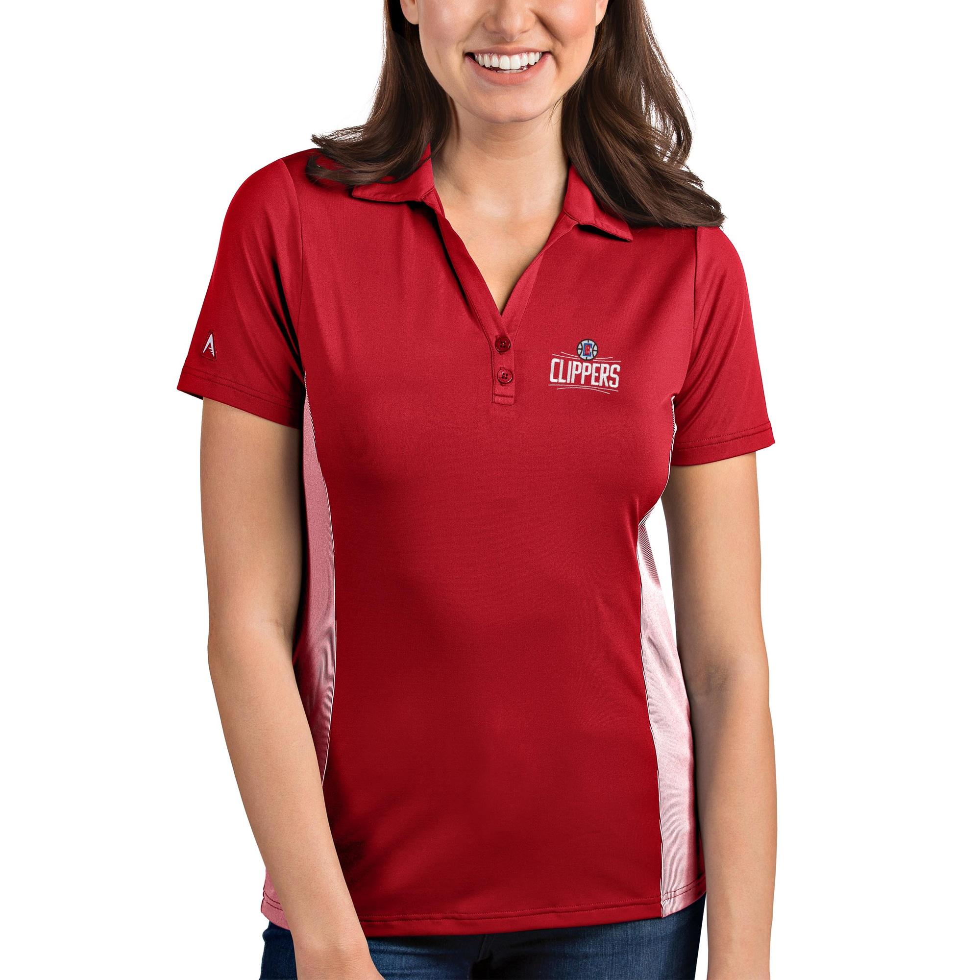 LA Clippers Antigua Women's Venture Polo - Red/White