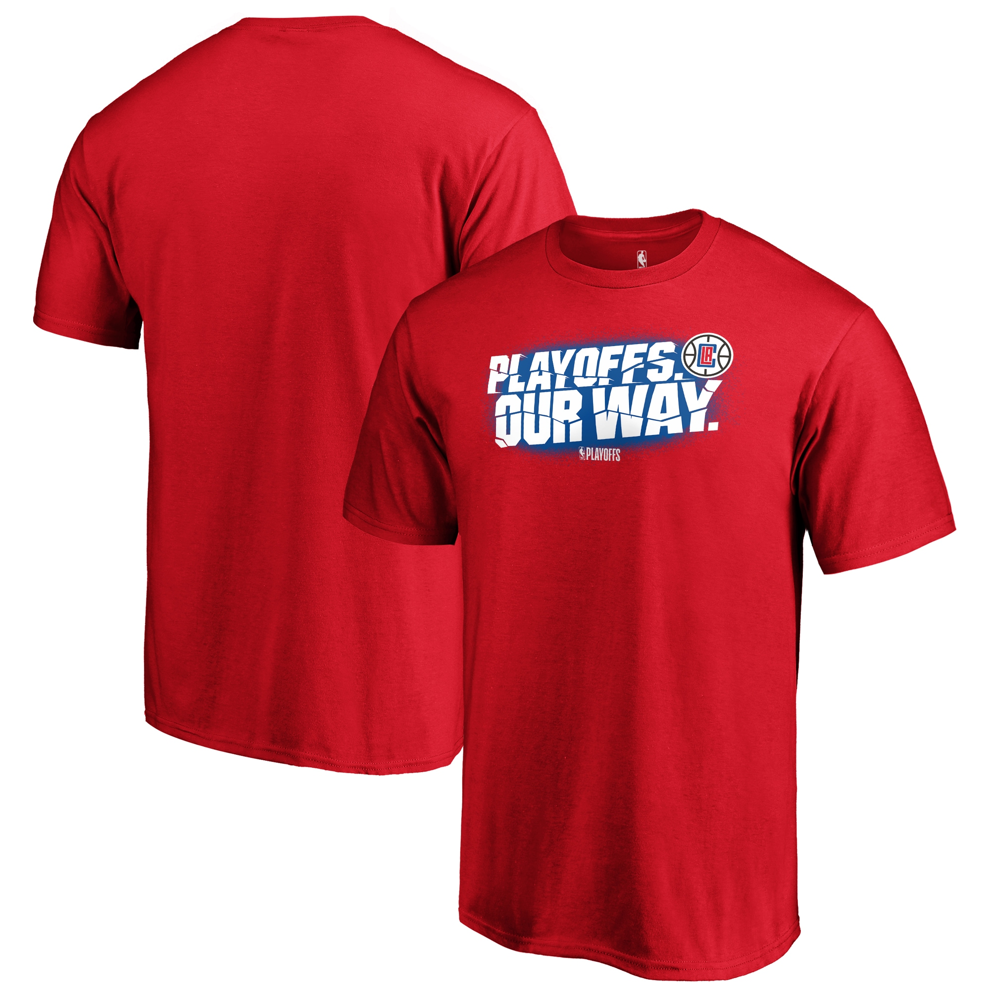 LA Clippers Fanatics Branded 2019 NBA Playoffs Bound Tip Off Dunk T-Shirt - Red