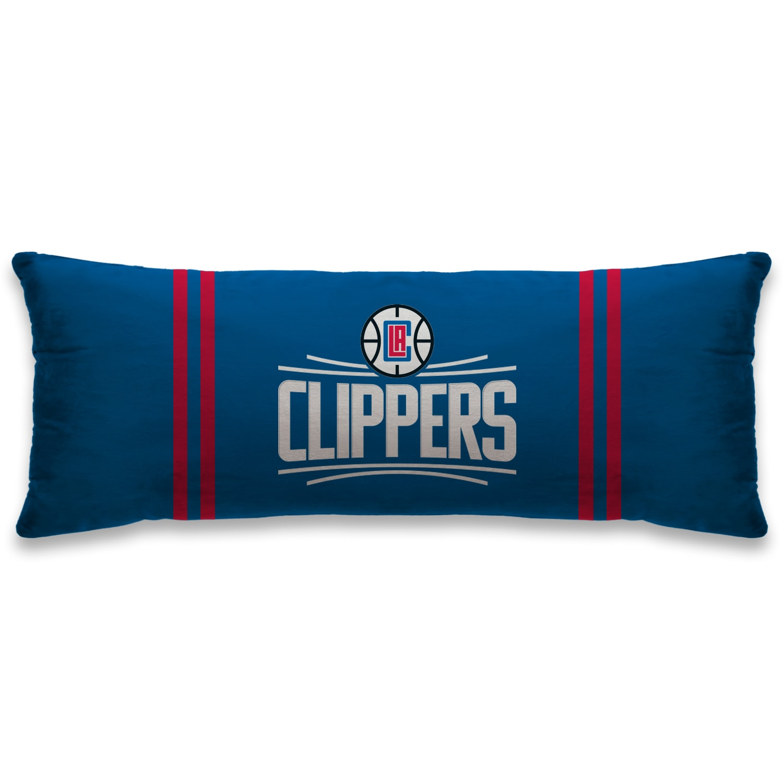 LA Clippers 20'' x 48'' Plush Bed Pillow