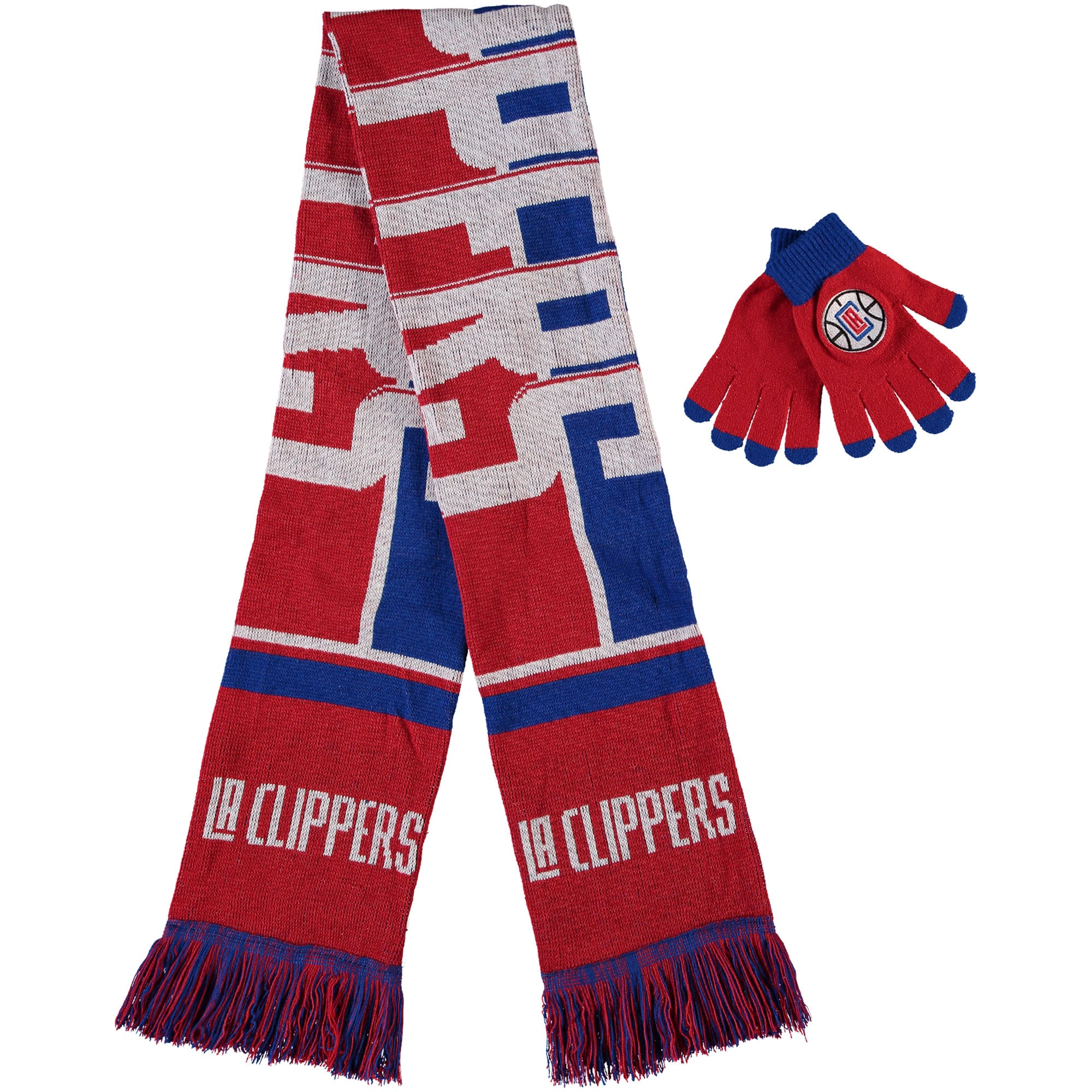 LA Clippers Hol Gloves & Scarf Set