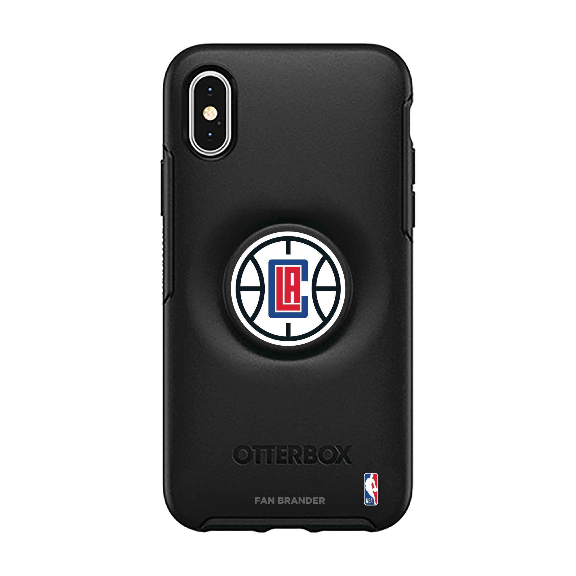 LA Clippers OtterBox Otter + Pop Symmetry Series iPhone Case with Integrated PopSockets PopGrip