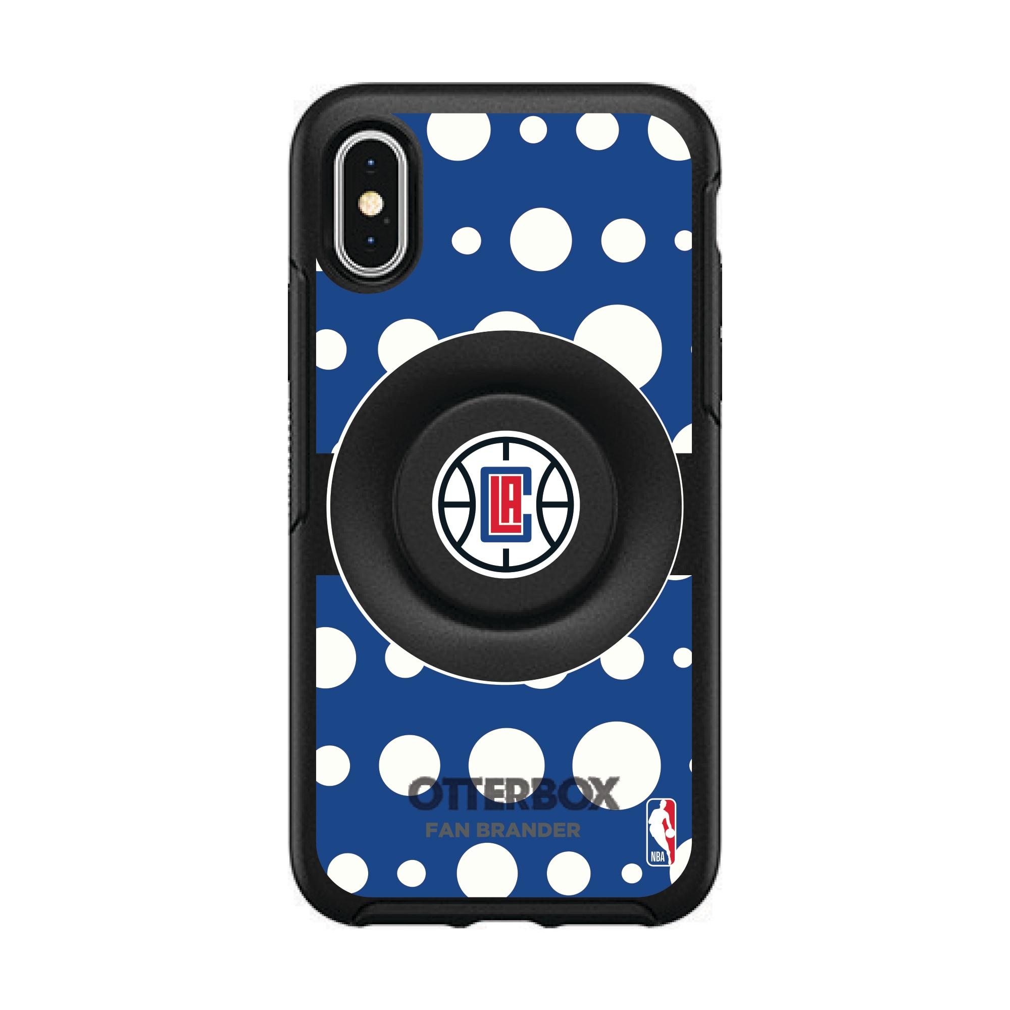 LA Clippers OtterBox Otter+Pop PopSocket Polka Dot iPhone Case