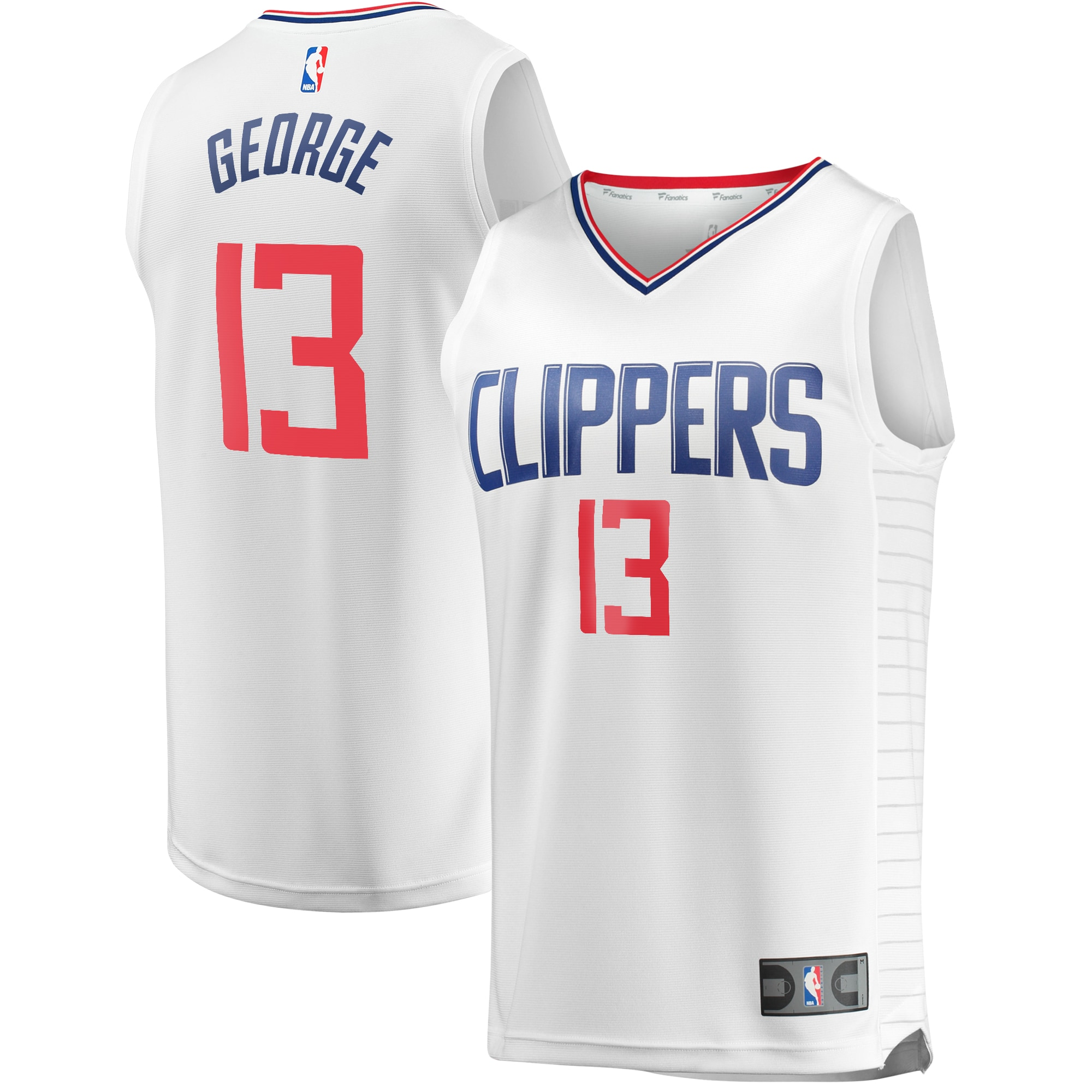 Paul George LA Clippers Fanatics Branded Fast Break Replica Jersey White - Association Edition