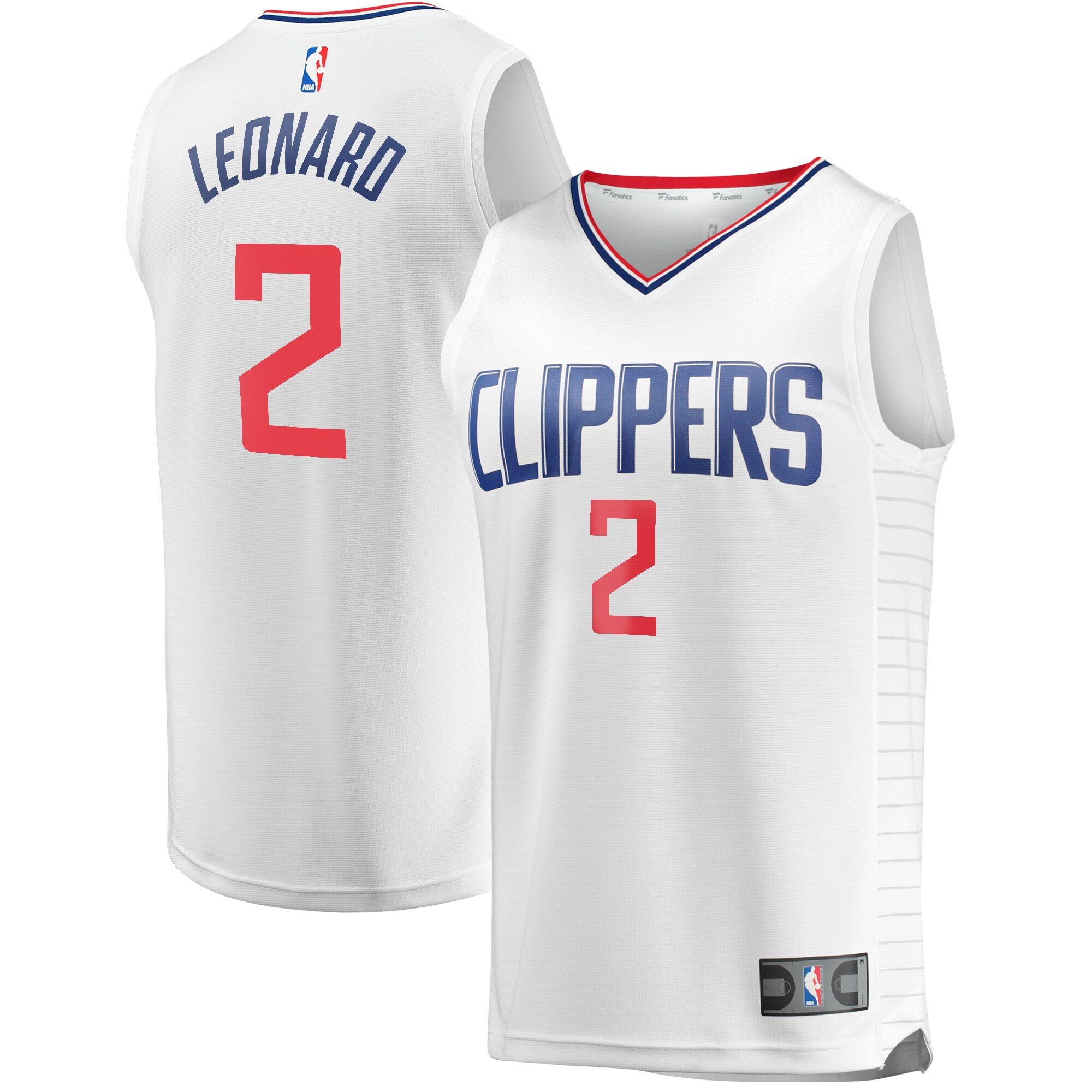 Kawhi Leonard LA Clippers Fanatics Branded Youth Fast Break Replica Jersey White - Association Edition