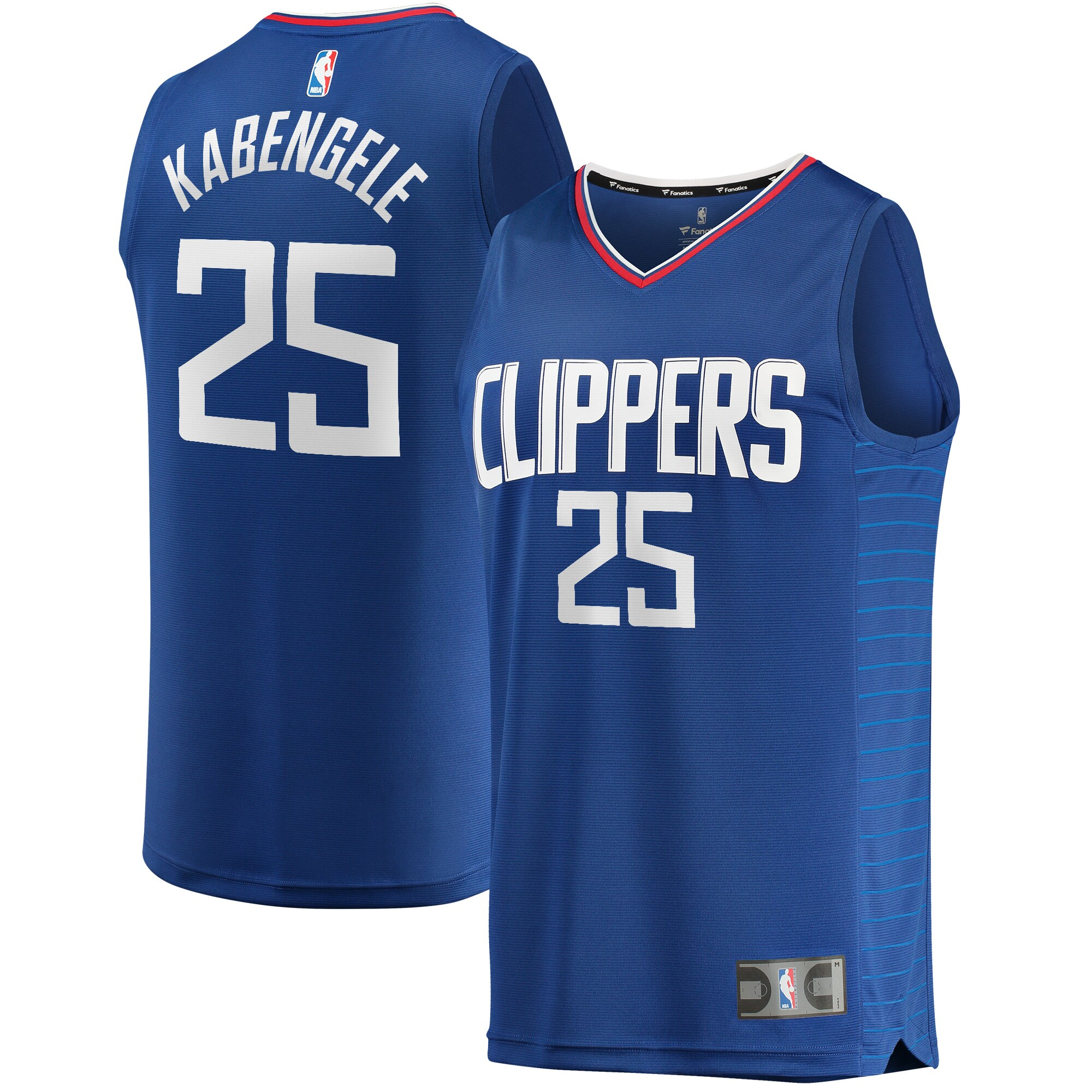 Mfiondu Kabengele LA Clippers Fanatics Branded Fast Break Replica Jersey Royal - Icon Edition