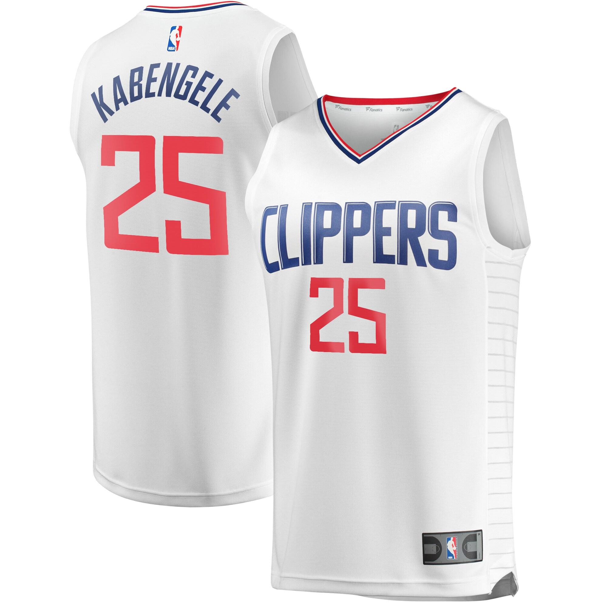 Mfiondu Kabengele LA Clippers Fanatics Branded Fast Break Replica Jersey White - Association Edition