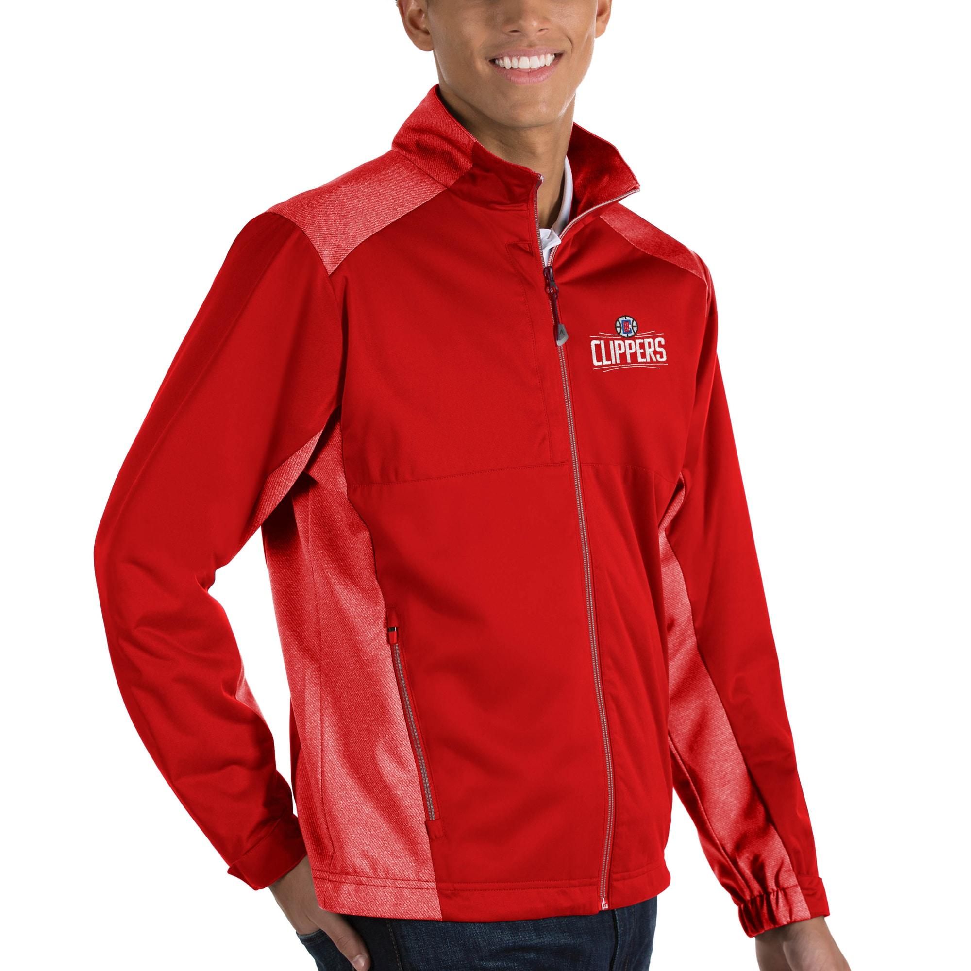 LA Clippers Antigua Revolve Full-Zip Jacket - Red