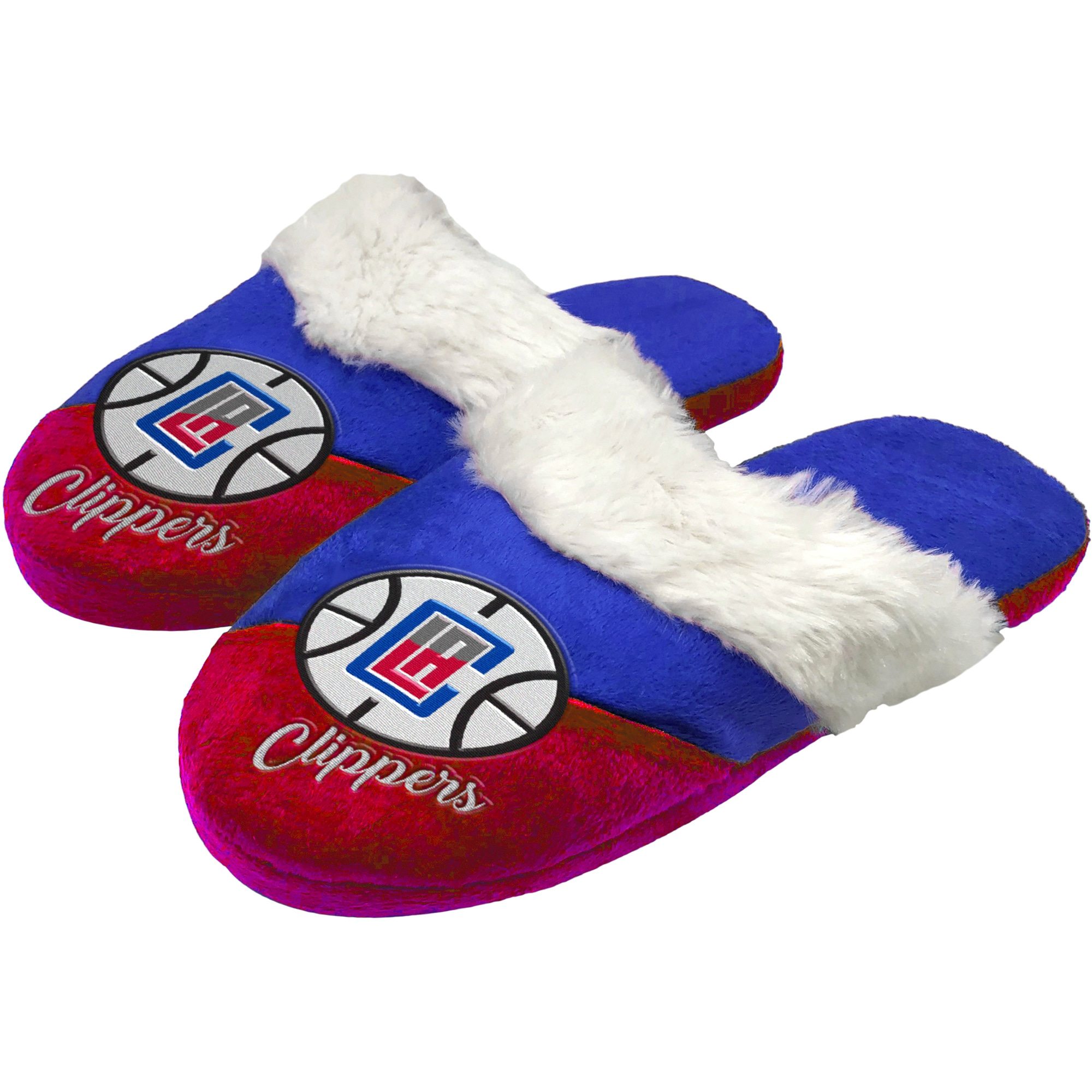 LA Clippers Women's Colorblock Script Big Logo Slippers
