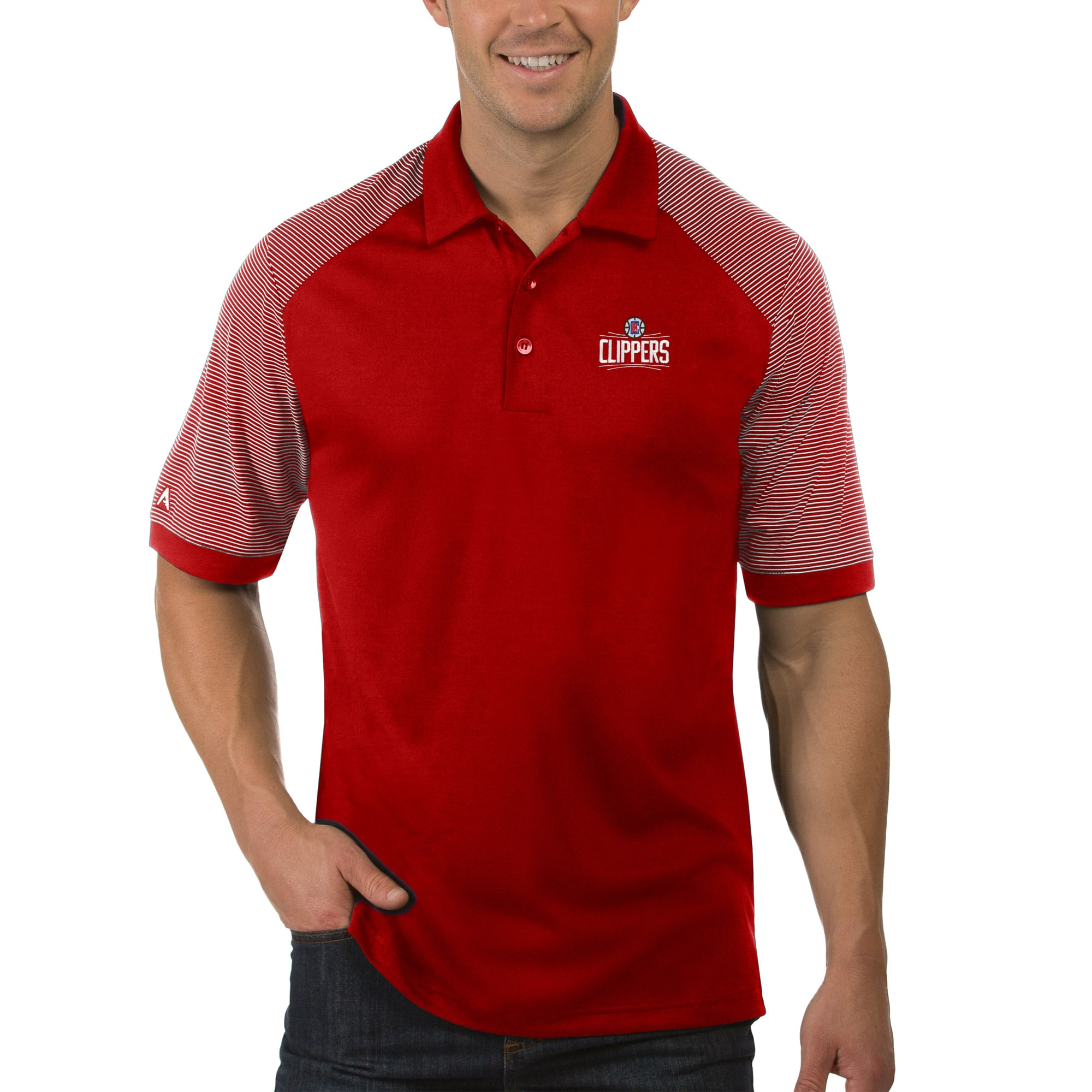 LA Clippers Antigua Engage Polo - Red