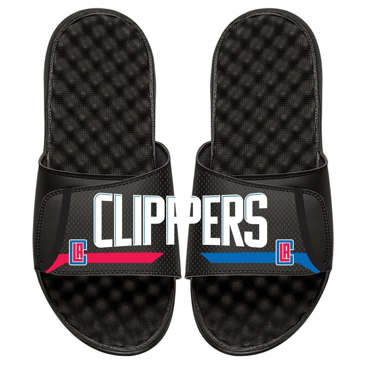 LA Clippers ISlide Statement Jersey Split Slide Sandals - Black