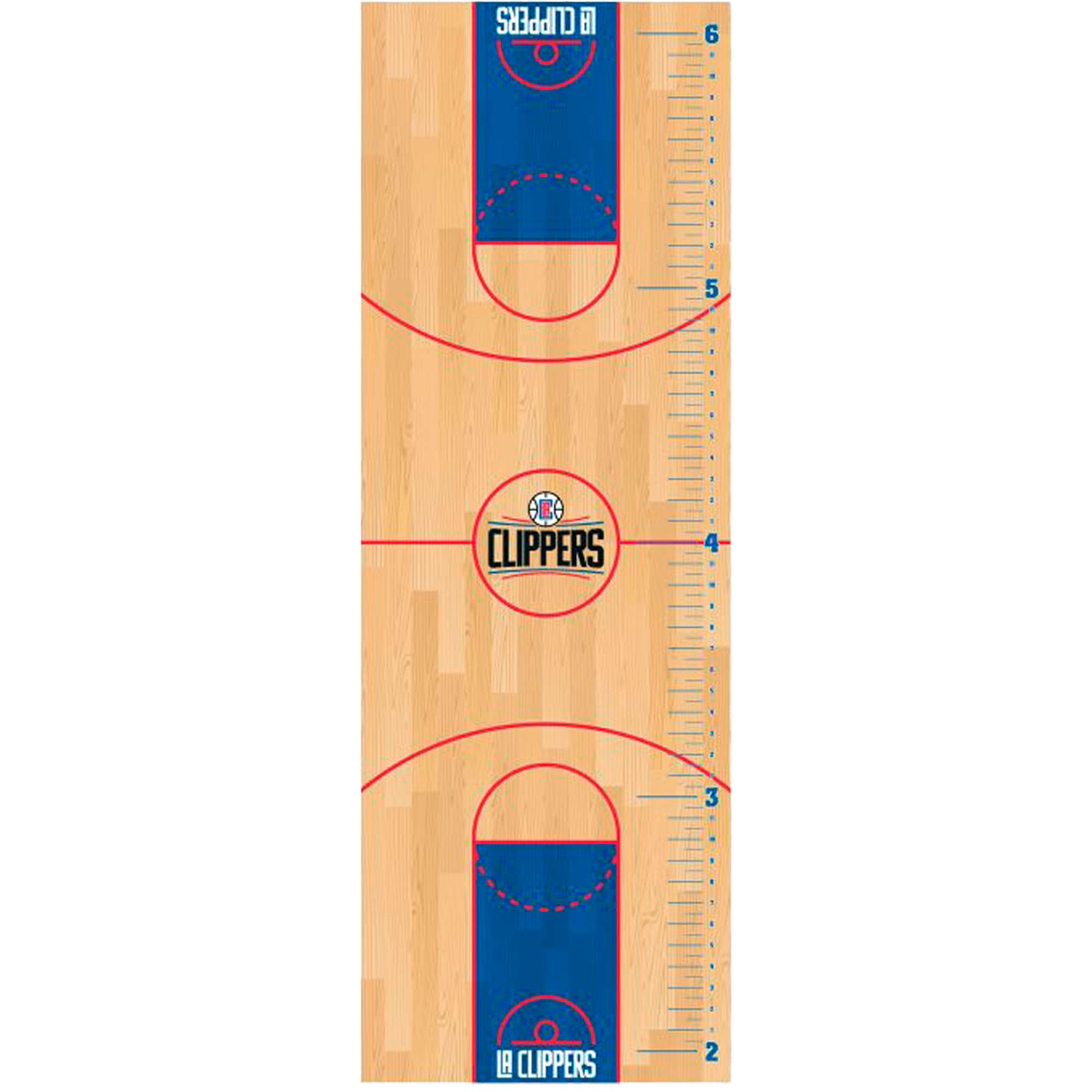 LA Clippers Fathead Basketball Court Large Removable Growth Chart