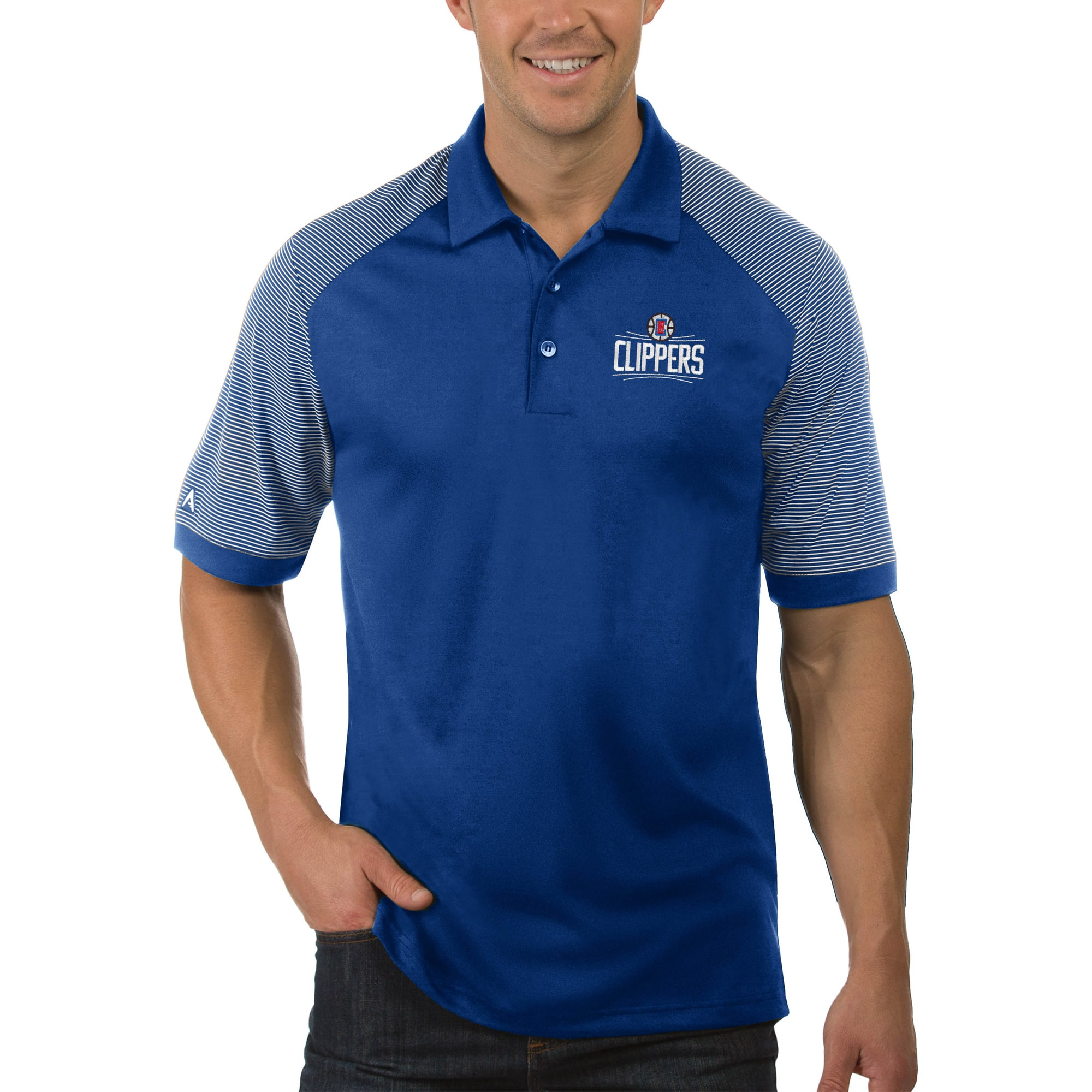 LA Clippers Antigua Engage Big & Tall Polo - Royal