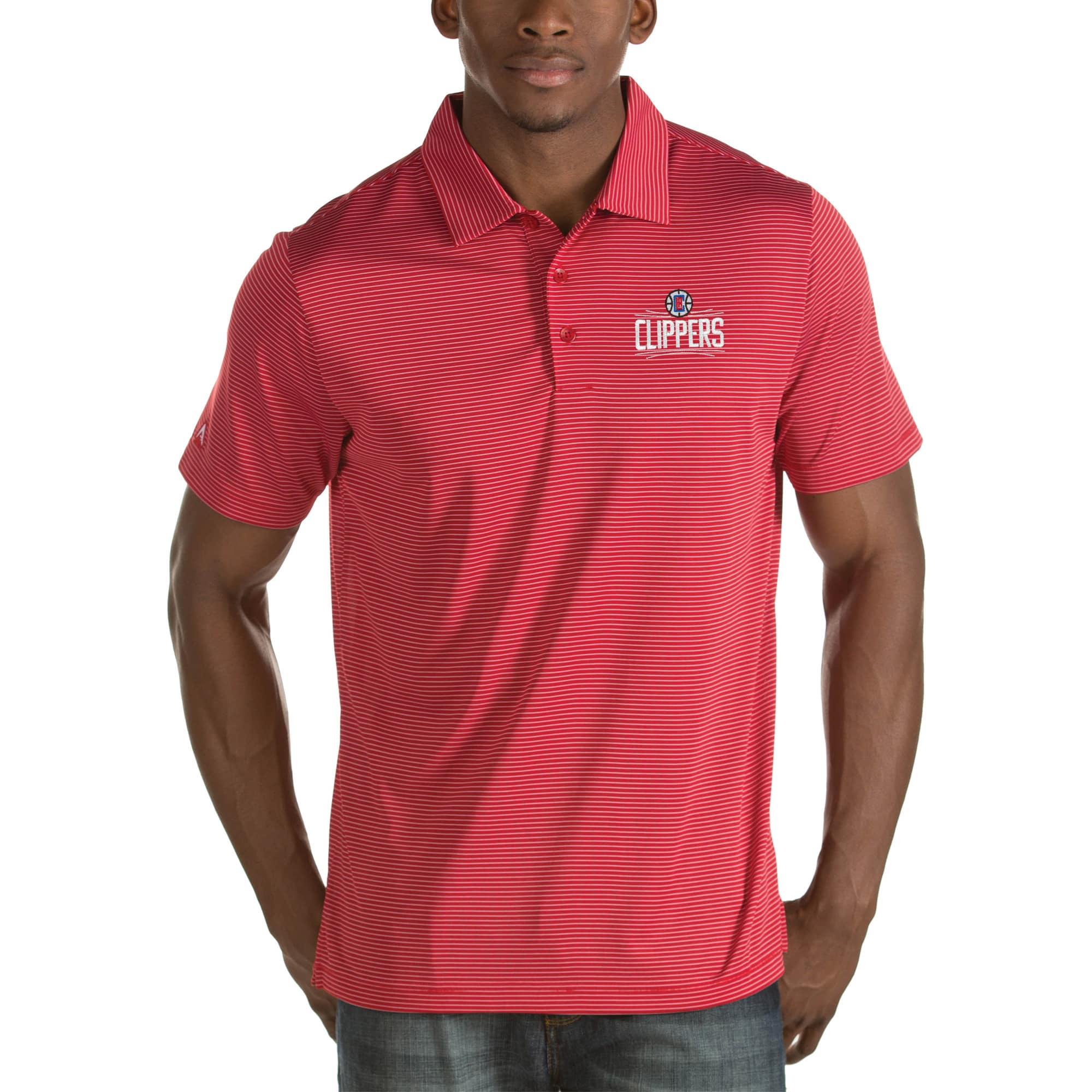 LA Clippers Antigua Quest Big & Tall Polo - Red