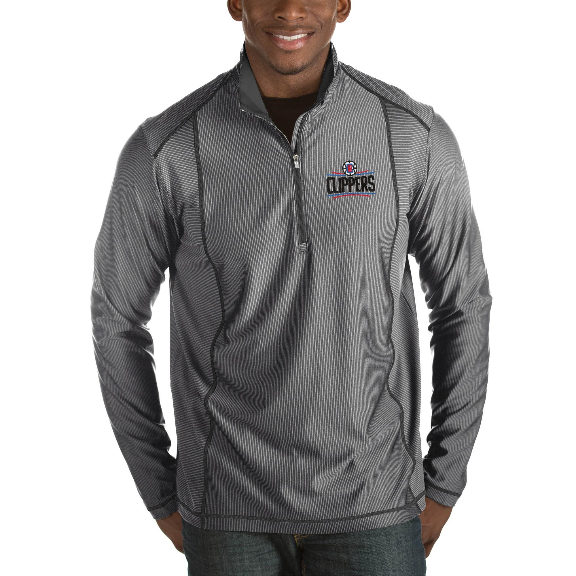 LA Clippers Antigua Tempo Big & Tall Half-Zip Pullover Jacket - Charcoal