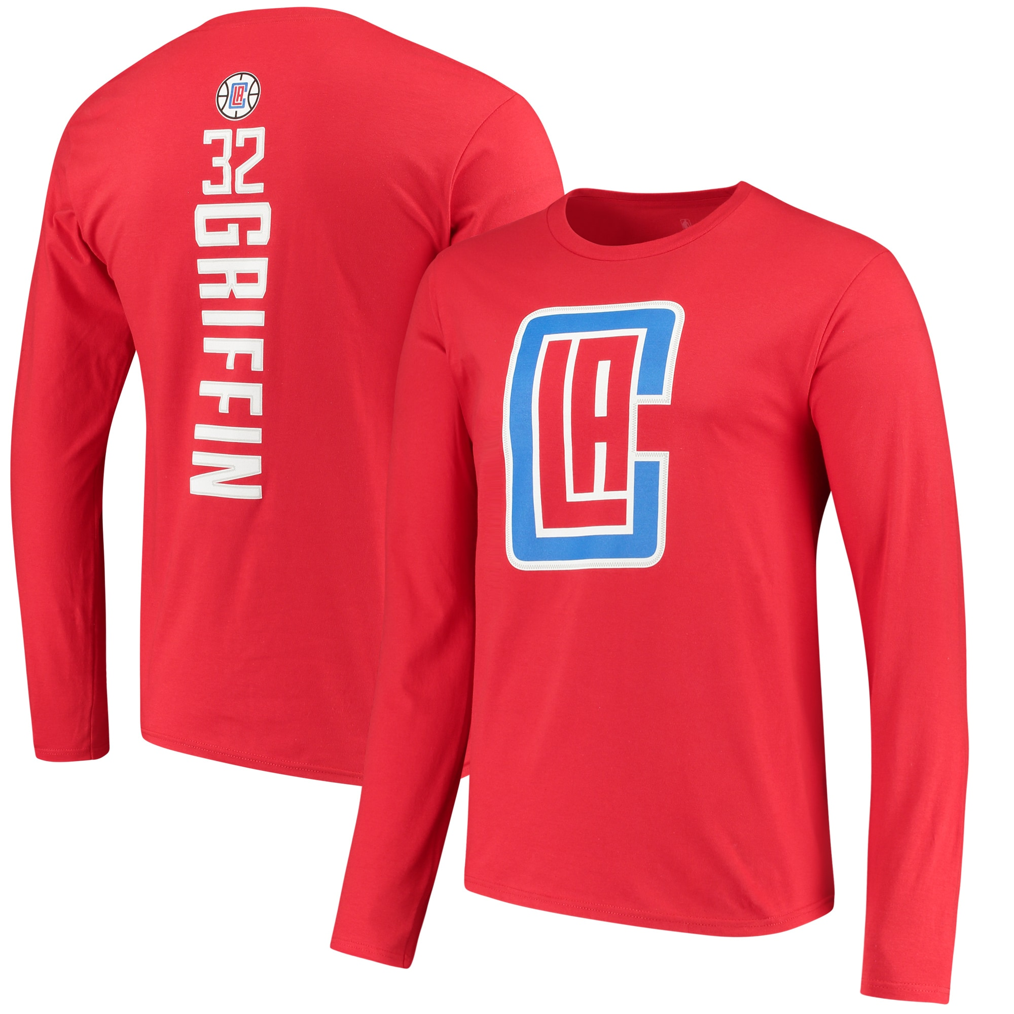 Blake Griffin LA Clippers Fanatics Branded Backer Name & Number Player Long Sleeve T-Shirt - Red