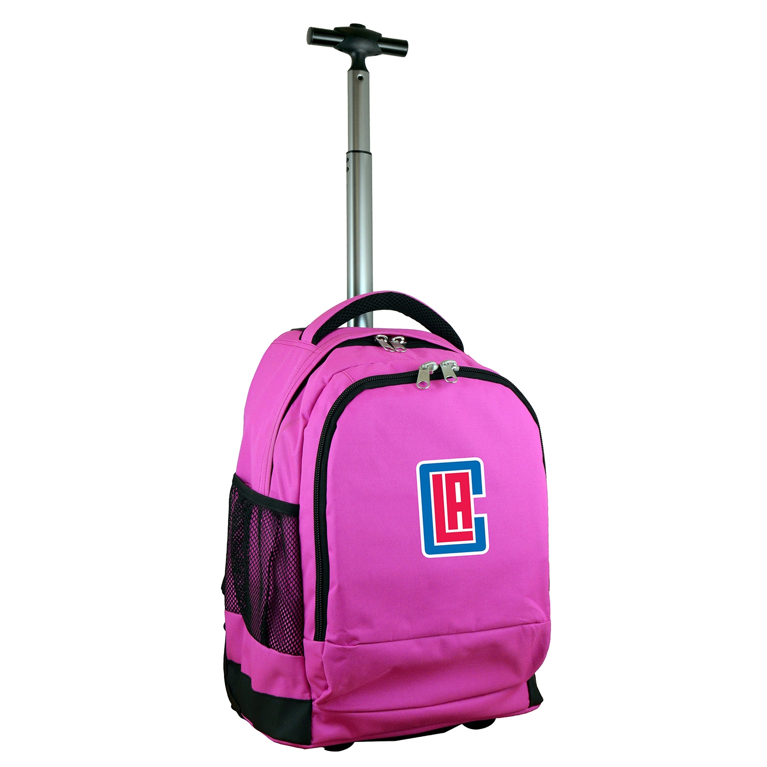 LA Clippers 19'' Premium Wheeled Backpack - Pink