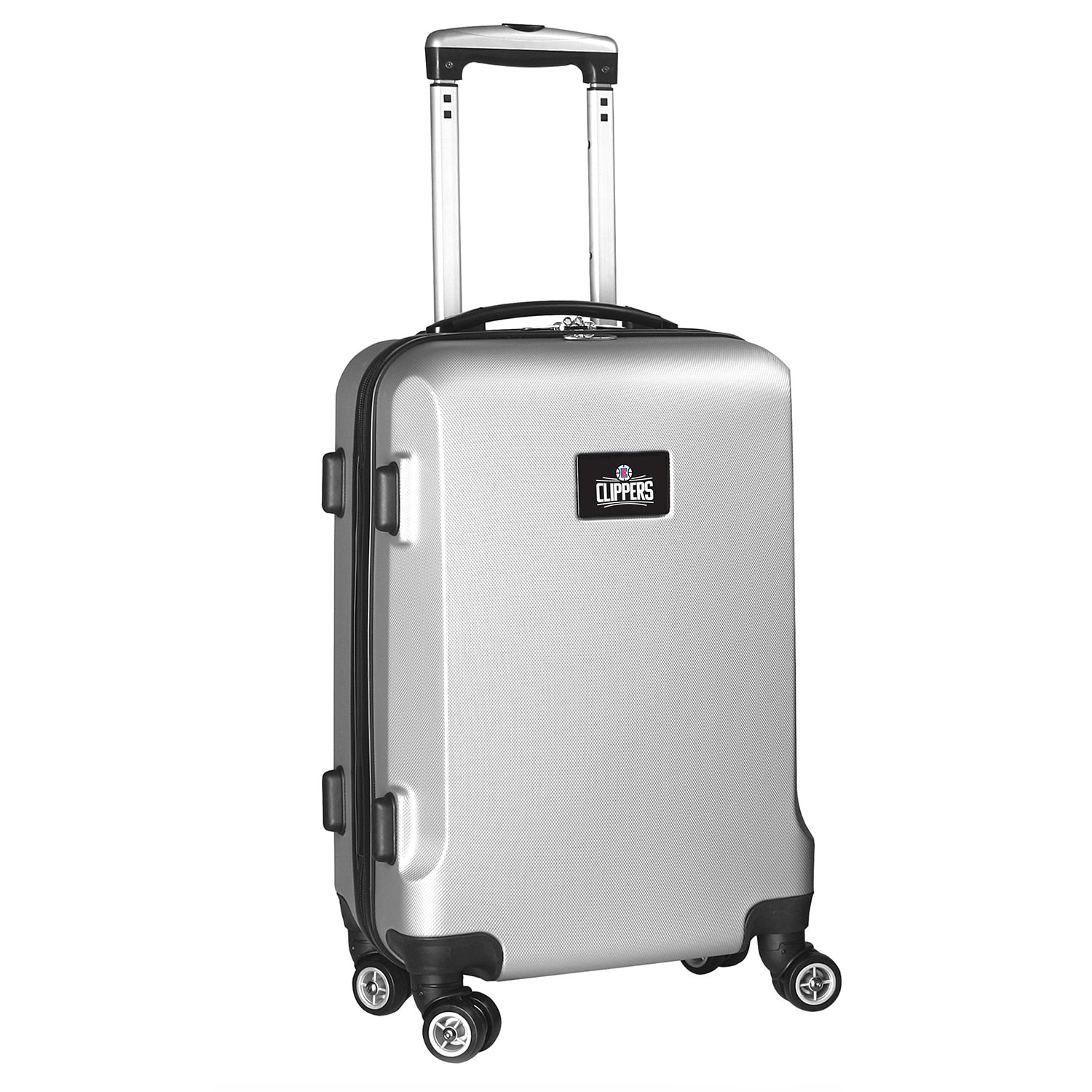 "LA Clippers 21"" 8-Wheel Hardcase Spinner Carry-On - Silver"